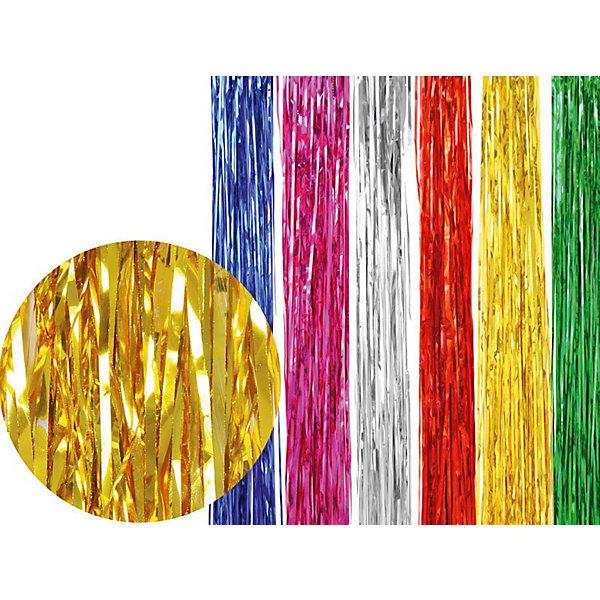 Дождик металлик 2 метраНовогодняя мишура и бусы<br>Дождик (металлик). Незаменимый новогодний аксессуар. Разноцветный дождик подходит для украшения елки, оформления помещений и витрин, декорирования новогодних костюмов.<br><br>Дополнительная информация:<br><br>- Материал: фольга<br>- Цвет: серебро, золото, розовый, синий, зеленый, красный (в ассортименте)<br>- Размер: 2 м<br>- 10 штук в упаковке.<br><br>Дождик  можно купить в нашем магазине.<br>Ширина мм: 116; Глубина мм: 100; Высота мм: 100; Вес г: 116; Возраст от месяцев: 36; Возраст до месяцев: 216; Пол: Унисекс; Возраст: Детский; SKU: 3822107;