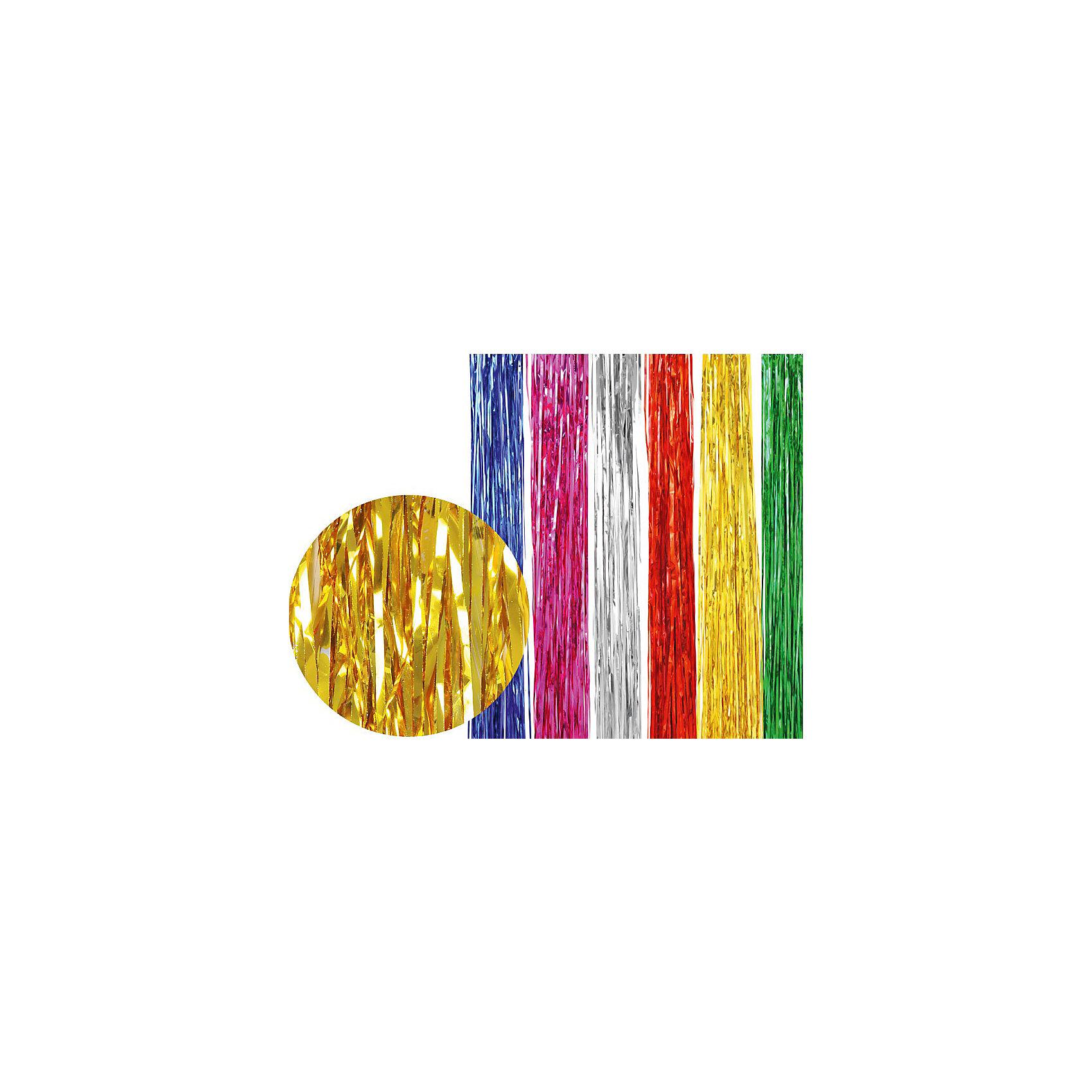 Дождик металлик 2 метра (цвета в ассортименте)Всё для праздника<br>Дождик (металлик). Незаменимый новогодний аксессуар. Разноцветный дождик подходит для украшения елки, оформления помещений и витрин, декорирования новогодних костюмов.<br><br>Дополнительная информация:<br><br>- Материал: фольга<br>- Цвет: серебро, золото, розовый, синий, зеленый, красный (в ассортименте)<br>- Размер: 2 м<br>- 10 штук в упаковке.<br><br>Дождик  можно купить в нашем магазине.<br><br>Ширина мм: 116<br>Глубина мм: 100<br>Высота мм: 100<br>Вес г: 116<br>Возраст от месяцев: 36<br>Возраст до месяцев: 216<br>Пол: Унисекс<br>Возраст: Детский<br>SKU: 3822107