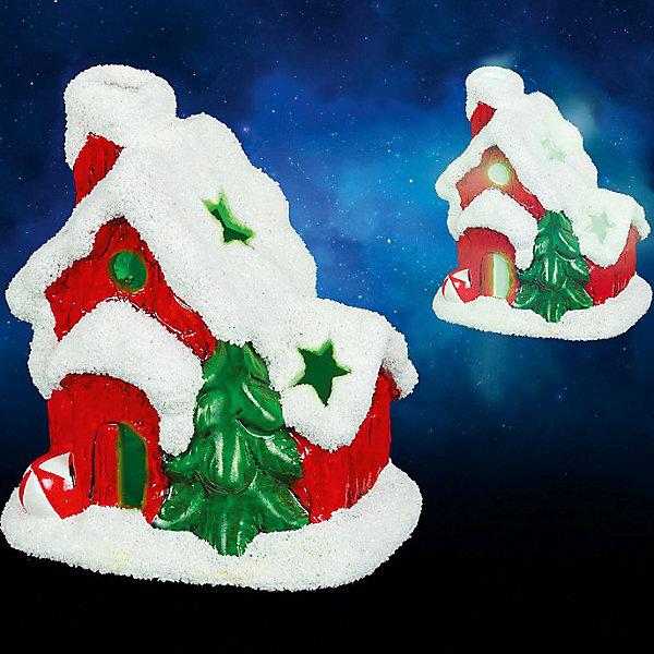 Керамический сувенир Домик с подсветкой, 9х7х10 смНовогодние световые фигуры<br>Керамический сувенир Домик с подсветкой. Прекрасный новогодний сувенир обязательно создаст атмосферу праздника. <br><br>Дополнительная информация:<br><br>- Материал: керамика<br>- Размер: 9х7х10 см<br>- Цвет: красный, белый, зеленый<br>- Работает от батарейки<br><br>Керамический сувенир с подсветкой Домик можно купить в нашем магазине.<br><br>Ширина мм: 250<br>Глубина мм: 100<br>Высота мм: 100<br>Вес г: 250<br>Возраст от месяцев: 36<br>Возраст до месяцев: 216<br>Пол: Унисекс<br>Возраст: Детский<br>SKU: 3822110