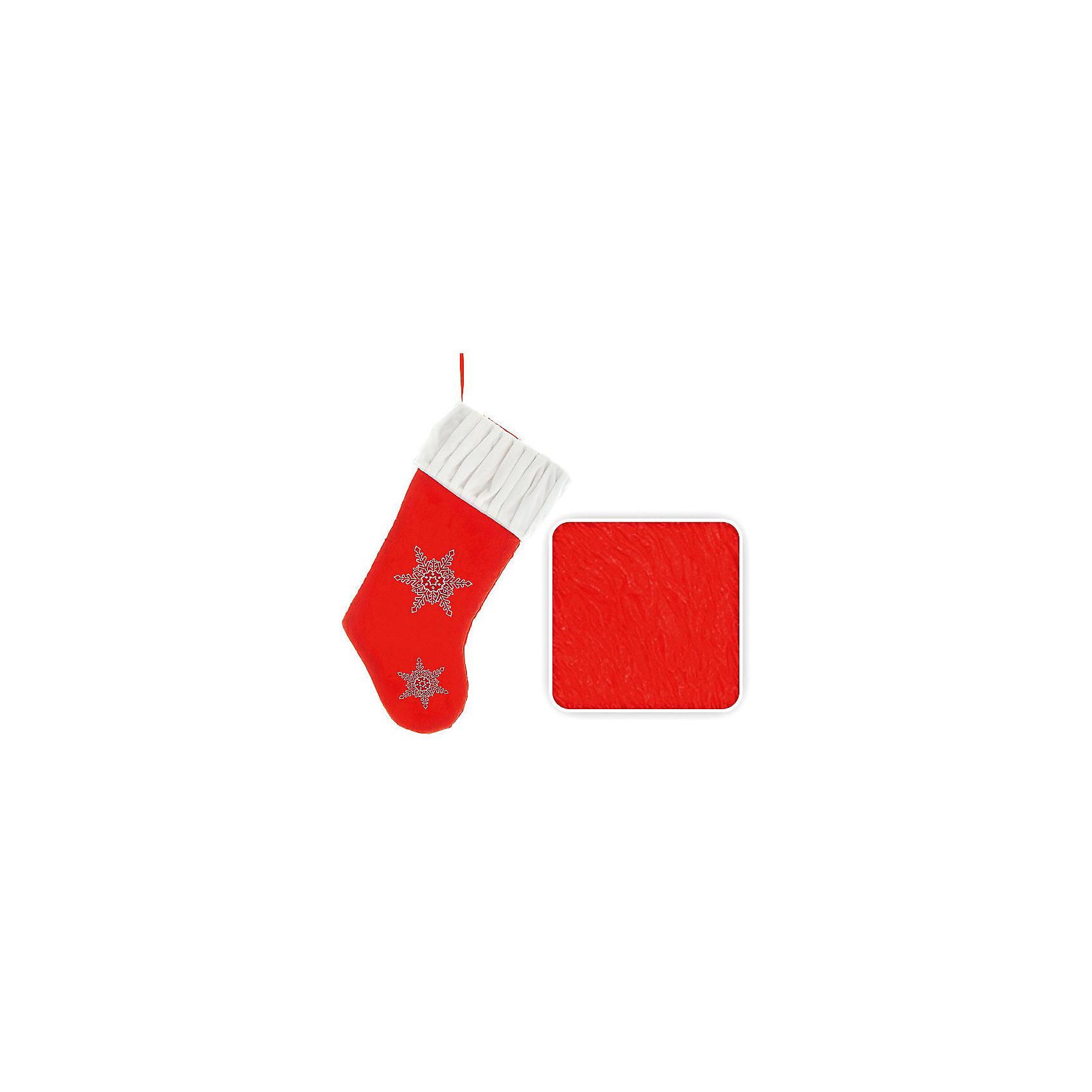 Носок для подарков, 50 см, красный цветВсё для праздника<br>Носок для подарков. В такой носок обязательно положат подарок, а может, и не один. Прекрасный новогодний аксессуар. Прекрасно подойдет для оформления витрин и помещений. <br><br>Дополнительная информация:<br><br>- Материал: текстиль<br>- Размер: 50 см<br>- Цвет: красный, белый<br>- Вышивка- снежинка.<br><br>Носок для подарков можно купить в нашем магазине.<br><br>Ширина мм: 110<br>Глубина мм: 100<br>Высота мм: 100<br>Вес г: 110<br>Возраст от месяцев: 36<br>Возраст до месяцев: 216<br>Пол: Унисекс<br>Возраст: Детский<br>SKU: 3822115