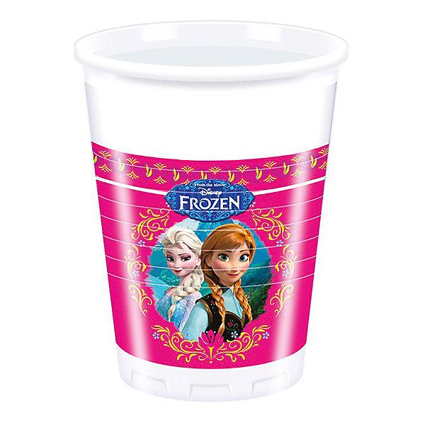 Стаканы пластиковые Холодное сердце 200 мл 8штСтаканы<br>Пластиковые стаканы «Холодное сердце» помогут вам завершить оформление стола, если вы планируете праздник для маленькой принцессы. Одноразовая посуда не бьется, даже если ее уронить с большой высоты, ей нельзя порезаться, поэтому накрыв стол с пластиковой посудой вы можете предоставить юных гостей самим себе.  <br>Стаканы изготовлены из безопасного и нетоксичного пластика, прошедшего сертификацию на европейском уровне. Эти и другие аксессуары для праздника «Холодное сердце», которые вы можете найти в нашем каталоге, выпущены греческим брендом Procos  - производителем высококачественных товаров для детей.  <br>В упаковке: 8 стаканов.  <br>Объем каждого из них: 200 миллилитров.  <br>Предназначено для детей старше 3 лет.<br><br>Ширина мм: 7<br>Глубина мм: 13<br>Высота мм: 7<br>Вес г: 25<br>Возраст от месяцев: -2147483648<br>Возраст до месяцев: 2147483647<br>Пол: Женский<br>Возраст: Детский<br>SKU: 3823863