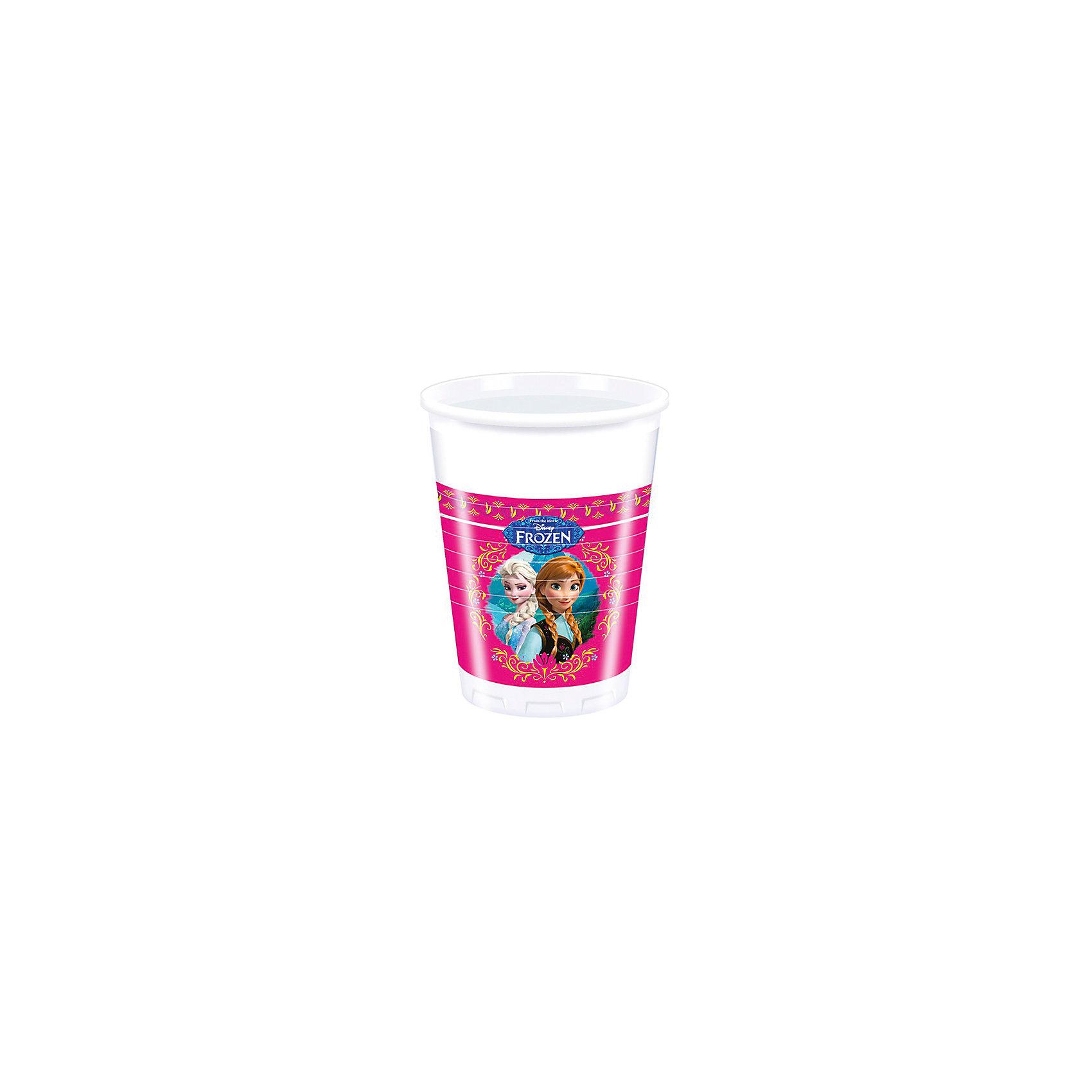 Стаканы пластиковые Холодное сердце (200 мл), 8штПластиковые стаканы Холодное сердце,  замечательно подойдут для детского праздника и помогут Вам красиво оформить праздничный стол. Комплект включает в себя 8 красочных стаканов, которые выполнены по мотивам популярного диснеевского мультфильма Холодное сердце и украшены изображениями его героинь - сестер Анны и Эльзы. Стаканы сделаны из высококачественного пластика и абсолютно безопасны для здоровья.<br><br>Дополнительная информация:<br><br>- В комплекте: 10 стаканов.<br>- Материал: высококачественный пластик..<br>- Объем стакана: 200 мл.<br>- Размер упаковки: 5,5 х 5,5 х 10 см.<br>- Вес: 90 гр.<br><br>Пластиковые стаканы Холодное сердце,  можно купить в нашем интернет-магазине.<br><br>Ширина мм: 7<br>Глубина мм: 13<br>Высота мм: 7<br>Вес г: 25<br>Возраст от месяцев: -2147483648<br>Возраст до месяцев: 2147483647<br>Пол: Женский<br>Возраст: Детский<br>SKU: 3823863