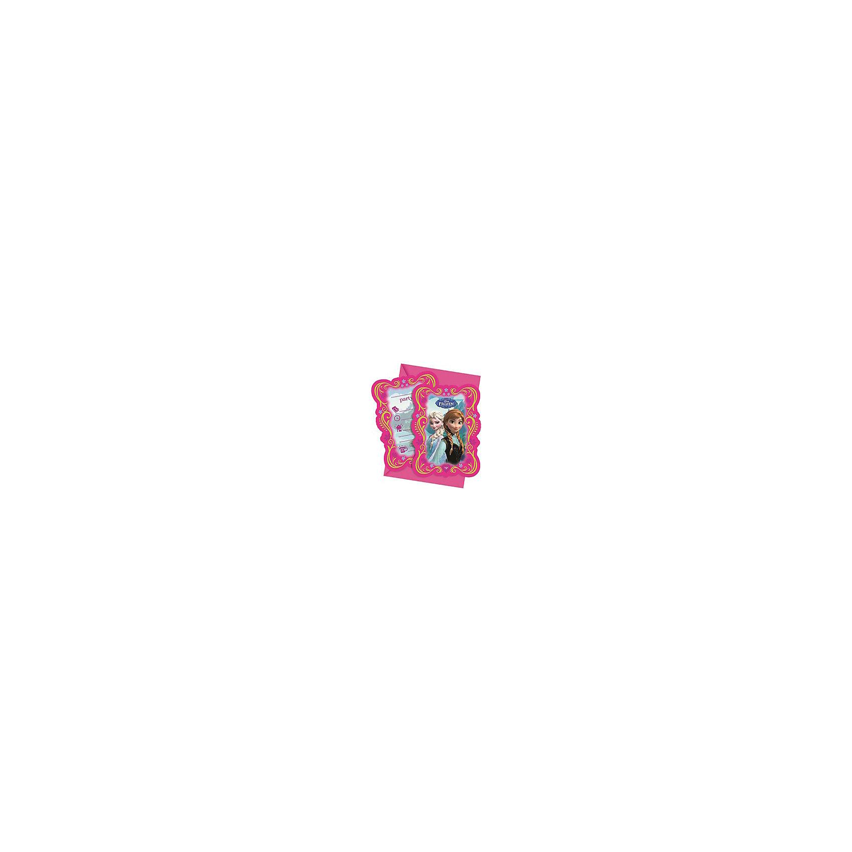 Приглашения в конвертах Холодное сердце , 6 шт.Холодное Сердце Детская комната<br>Устрой вечеринку и позови на нее всех своих подружек с помощью стильных красочных приглашений от греческой компании Procos.  На каждом приглашении ты найдешь изображения принцесс Анны и Эльзы из известного мультфильма Холодное сердце.  Каждое девочке будет приятно получить такое приглашение на праздник, будь то День Рождения, именины или любое другое торжество.<br><br>Задай хорошее настроение  своей вечеринке с самого начала, с помощью пригласительных в конверте Холодное Сердце! <br><br><br>В упаковке находится 6 приглашений. <br>Размер упаковки: 1,5 х 11 х 16,5 см<br>Рекомендуемый возраст: с 0.<br><br>Ширина мм: 5<br>Глубина мм: 11<br>Высота мм: 21<br>Вес г: 60<br>Возраст от месяцев: 36<br>Возраст до месяцев: 2147483647<br>Пол: Женский<br>Возраст: Детский<br>SKU: 3823865