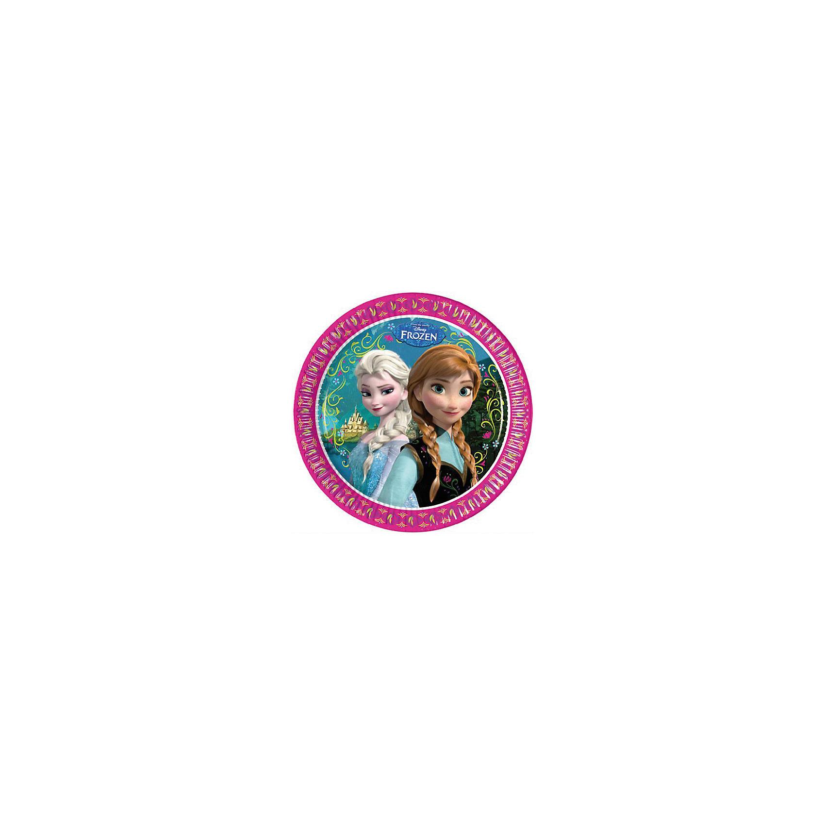 Тарелки Холодное сердце(23 см), 8 штНабор тарелок Холодное сердце,  замечательно подойдет для детского праздника или пикника и сделает его ярче и веселее. Комплект включает в себя 8 красочных тарелок, которые выполнены по мотивам популярного диснеевского мультфильма Холодное сердце и украшены изображениями его героинь - сестер Анны и Эльзы. Тарелки отлично удерживают еду, не промокают, не протекают и надолго сохраняют опрятный внешний вид. Изготовлены из высококачественных и нетоксичных материалов, которые совершенно безопасны для детского здоровья.<br><br>Дополнительная информация:<br><br>- В комплекте: 8 тарелок.<br>- Материал: специально обработанный картон.<br>- Диаметр тарелок: 23 см.<br>- Размер упаковки: 24 х 24 х 1,5 см.<br>- Вес: 120 гр.<br><br>Набор бумажных тарелок Холодное сердце,  8 шт., можно купить в нашем интернет-магазине.<br><br>Ширина мм: 18<br>Глубина мм: 225<br>Высота мм: 225<br>Вес г: 89<br>Возраст от месяцев: -2147483648<br>Возраст до месяцев: 2147483647<br>Пол: Женский<br>Возраст: Детский<br>SKU: 3823866