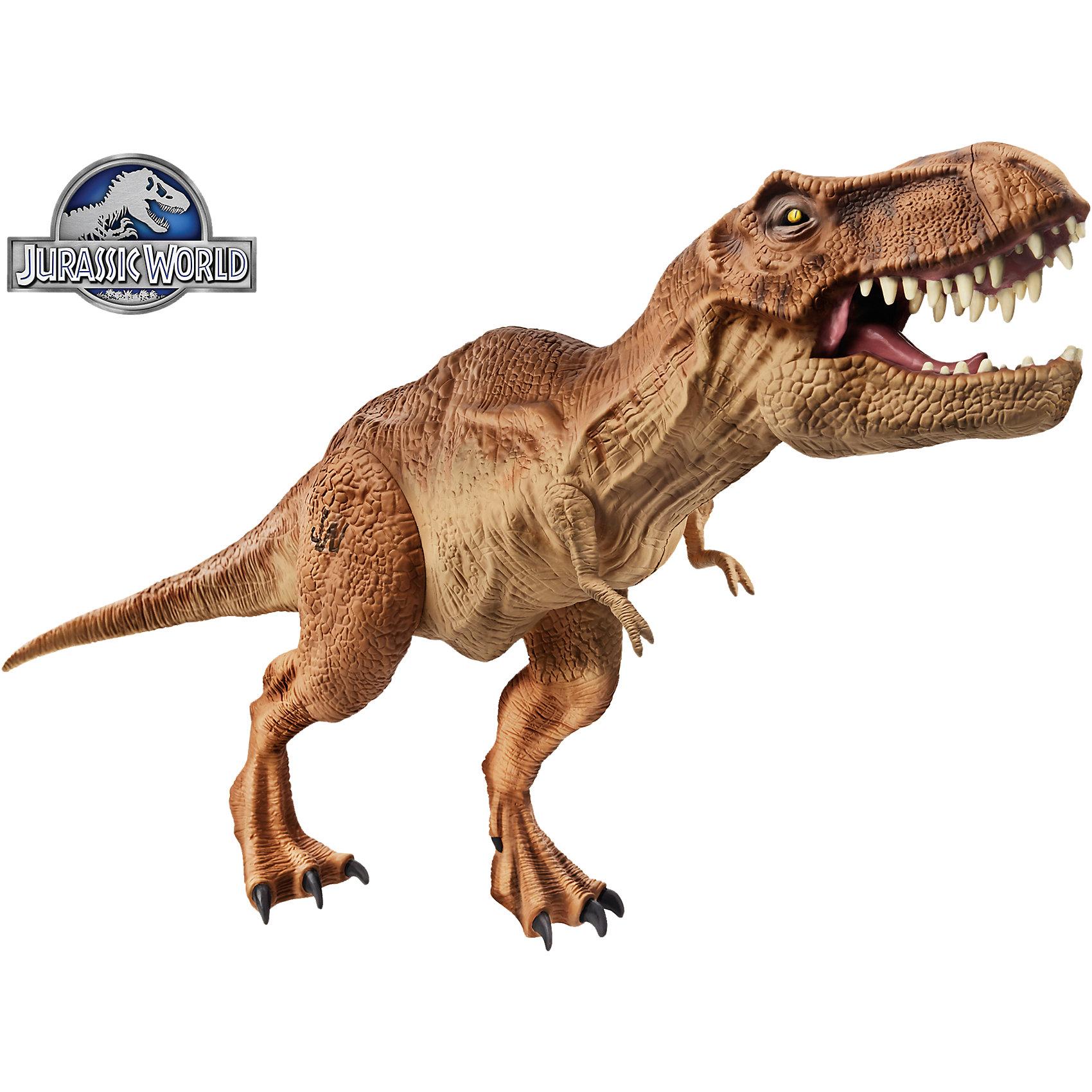 Тиранозавр Рекс, Мир Юрского ПериодаТиранозавр Рекс, Мир Юрского Периода<br><br>Характеристики:<br><br>• точная копия динозавра из фильма<br>• подвижные лапы и челюсти<br>• материал: пластмасса<br>• высота игрушки: 40 см<br>• размер упаковки: 30х10х21,25 см<br>• вес: 422 грамма<br><br>Фигурка тиранозавра Рекса очень похожа на свой прототип. Лапы динозавра подвижны, что позволяет принять нужную позу во время игры. Челюсти сжимаются, а кожа, хвост и детали тщательно проработаны. Игрушка изготовлена из качественного нетоксичного пластика и не имеет опасных элементов. Тиранозавр Рекс - отличный подарок для любителей доисторических жителей!<br><br>Тиранозавр Рекс, Мир Юрского Периода вы можете купить в нашем интернет-магазине.<br><br>Ширина мм: 311<br>Глубина мм: 223<br>Высота мм: 109<br>Вес г: 519<br>Возраст от месяцев: 48<br>Возраст до месяцев: 96<br>Пол: Мужской<br>Возраст: Детский<br>SKU: 3824440