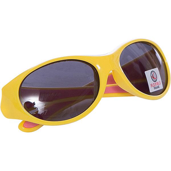 Очки солнцезащитные FLEXXY GIRL, желто-розовые, ALPINAСолнцезащитные очки<br>Характеристики:<br><br>• возраст: от 3 лет;<br>• материал: пластик;<br>• размер упаковки: 19х3х3 см;<br>• вес упаковки: 200 гр.;<br>• страна производитель: Китай.<br><br>Очки солнцезащитные Alpina Flexxy Girl желто-розовые — специальная серия, выпущенная для девочек. Очки защищают глаза от попадания солнечных лучей во время прогулки, отдыха на природе, катания на велосипеде, занятий спортом. Линзы выполнены из прочного материала, устойчивого к разбиванию. Они защищают глаза от всех типов УФ-лучей и не запотевают.<br><br>Очки солнцезащитные Alpina Flexxy Girl желто-розовые можно приобрести в нашем интернет-магазине.<br><br>Ширина мм: 123<br>Глубина мм: 70<br>Высота мм: 45<br>Вес г: 37<br>Цвет: желтый<br>Возраст от месяцев: 36<br>Возраст до месяцев: 84<br>Пол: Женский<br>Возраст: Детский<br>SKU: 3826844