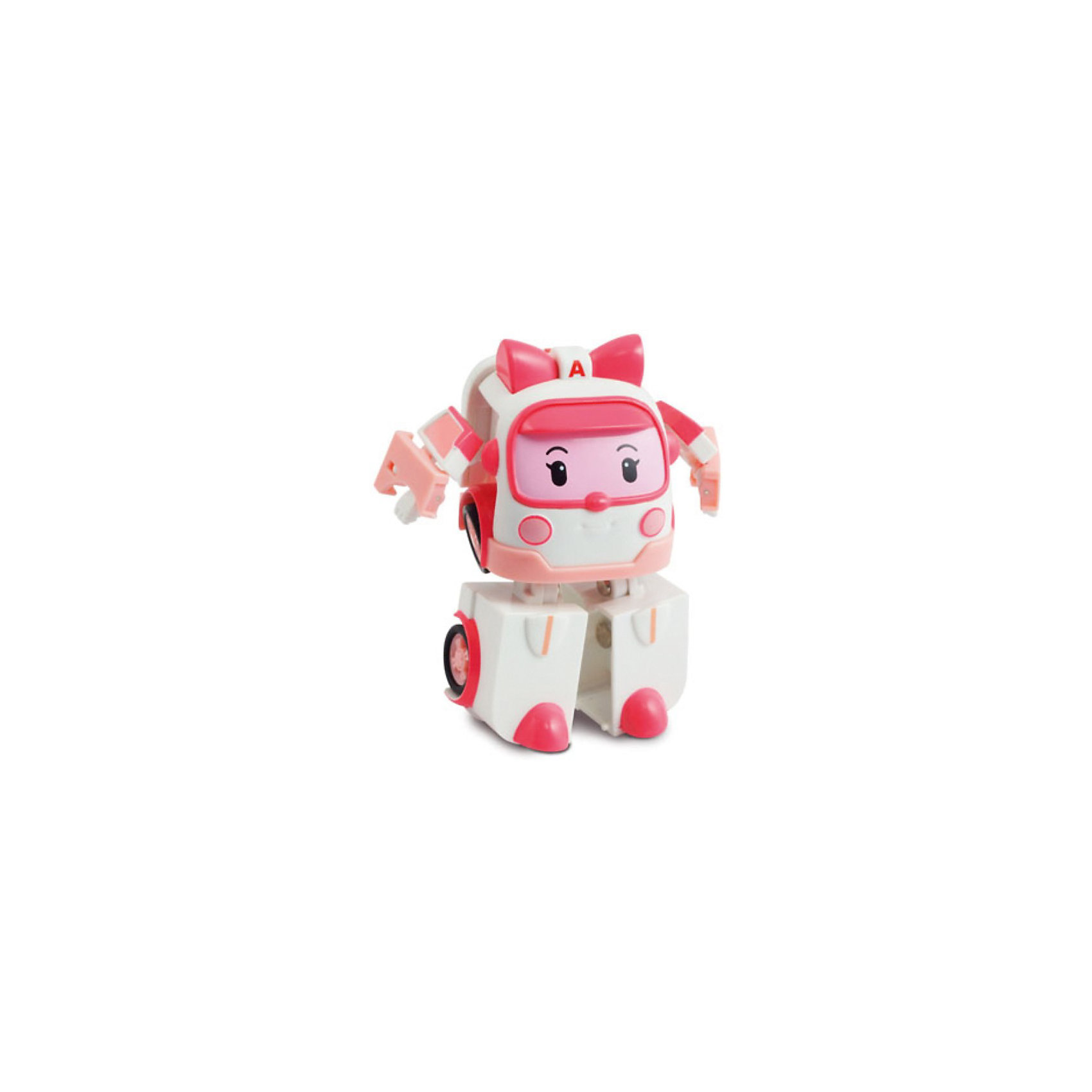 Игрушка Эмбер трансформер, 7,5 см,  Робокар ПолиИгрушки<br>Игрушка Эмбер трансформер, Robocar Poli станет замечательным подарком для всех юных поклонников мультсериала Робокар Поли и его друзья (Robocar Poli).<br>Спасательная команда служебных машинок всегда готова прийти на помощь жителям городка Брумстаун и выручить в любой ситуации. Эмбер - автомобиль скорой помощи, она отвечает за поддержку спасательных операций и оказывает первую помощь транспортным средствам и героям, попавшим в аварию.<br><br>Внешний вид нежно-розовой машинки полностью соответствует своей героине из  мультфильма. Игрушка 2 в 1 имеет компактный миниатюрный размер и легко трансформируется в робота с подвижными деталями, благодаря чему игрушку можно использовать сразу в двух качествах - как небольшую машинку или как робота. Совместима со всеми игровыми наборами Robocar Poli.<br><br>Дополнительная информация:<br><br>- Материал: пластик.<br>- Высота игрушки: 7,5 см.<br>- Длина машинки: 6 см.<br>- Размер упаковки: 11 x 14 x 8 см.<br>- Вес: 0,14 кг.<br><br>Игрушку  Эмбер трансформер, 7,5 см,  Робокар Поли можно купить в нашем интернет-магазине.<br><br>Ширина мм: 135<br>Глубина мм: 100<br>Высота мм: 80<br>Вес г: 134<br>Возраст от месяцев: 36<br>Возраст до месяцев: 84<br>Пол: Женский<br>Возраст: Детский<br>SKU: 3827053