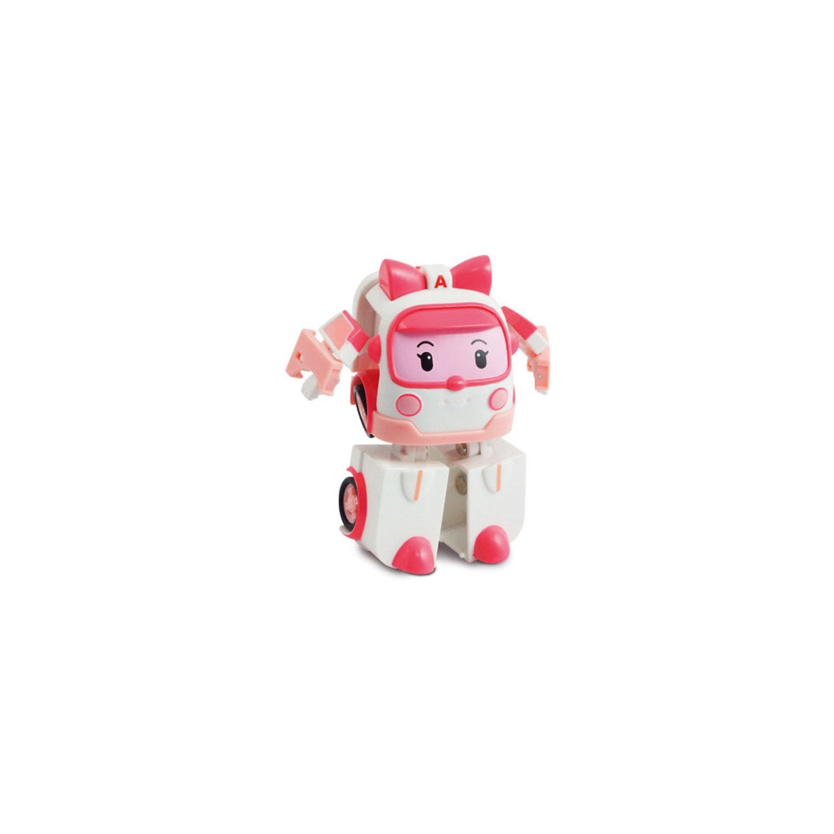 Silverlit Игрушка Эмбер трансформер, 7,5 см,  Робокар Поли silverlit игрушка эмбер на радиоуправлении 15см робокар поли