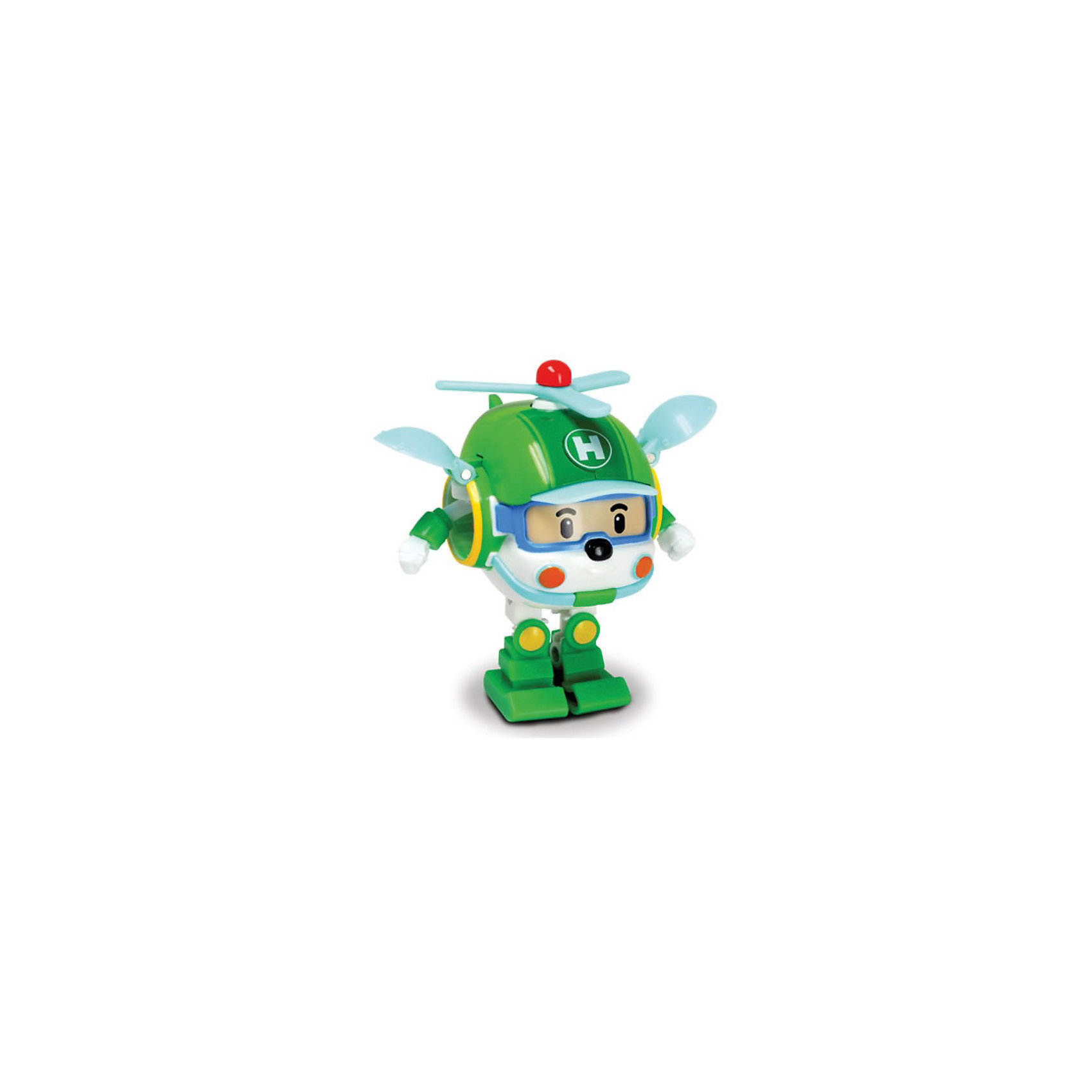 Игрушка Хэли трансформер, 7,5 см,  Робокар ПолиМашинки и транспорт для малышей<br>Игрушка Хэли трансформер, Robocar Poli (Робокар Поли) станет замечательным подарком для всех юных поклонников мультсериала Робокар Поли и его друзья (Robocar Poli). Спасательная<br>команда служебных машинок всегда готова прийти на помощь жителям городка Брумстаун и выручить в любой ситуации. Вертолет Хэли патрулирует город с воздуха, чтобы всегда во<br>время принять участие в спасательной операции. <br><br>Внешний вид вертолета полностью соответствует своему персонажу из мультфильма. Симпатичный зеленый вертолет имеет компактный миниатюрный размер и легко<br>трансформируется в робота с подвижными деталями, благодаря чему игрушку можно использовать сразу в двух качествах - как небольшой вертолетик или как робота. Совместим<br>со всеми игровыми наборами Robocar Poli.<br><br>Дополнительная информация:<br><br>- Цвет: зеленый.<br>- Материал: пластик.<br>- Высота фигурки робота: 7,5 см.<br>- Длина вертолета: 6 см.<br>- Размер упаковки: 11 x 14 x 8 см.<br>- Вес: 0,134 кг.<br><br>Игрушка Хэли трансформер, Robocar Poli (Робокар Поли) можно купить в нашем интернет-магазине.<br><br>Ширина мм: 135<br>Глубина мм: 100<br>Высота мм: 80<br>Вес г: 123<br>Возраст от месяцев: 36<br>Возраст до месяцев: 84<br>Пол: Мужской<br>Возраст: Детский<br>SKU: 3827054