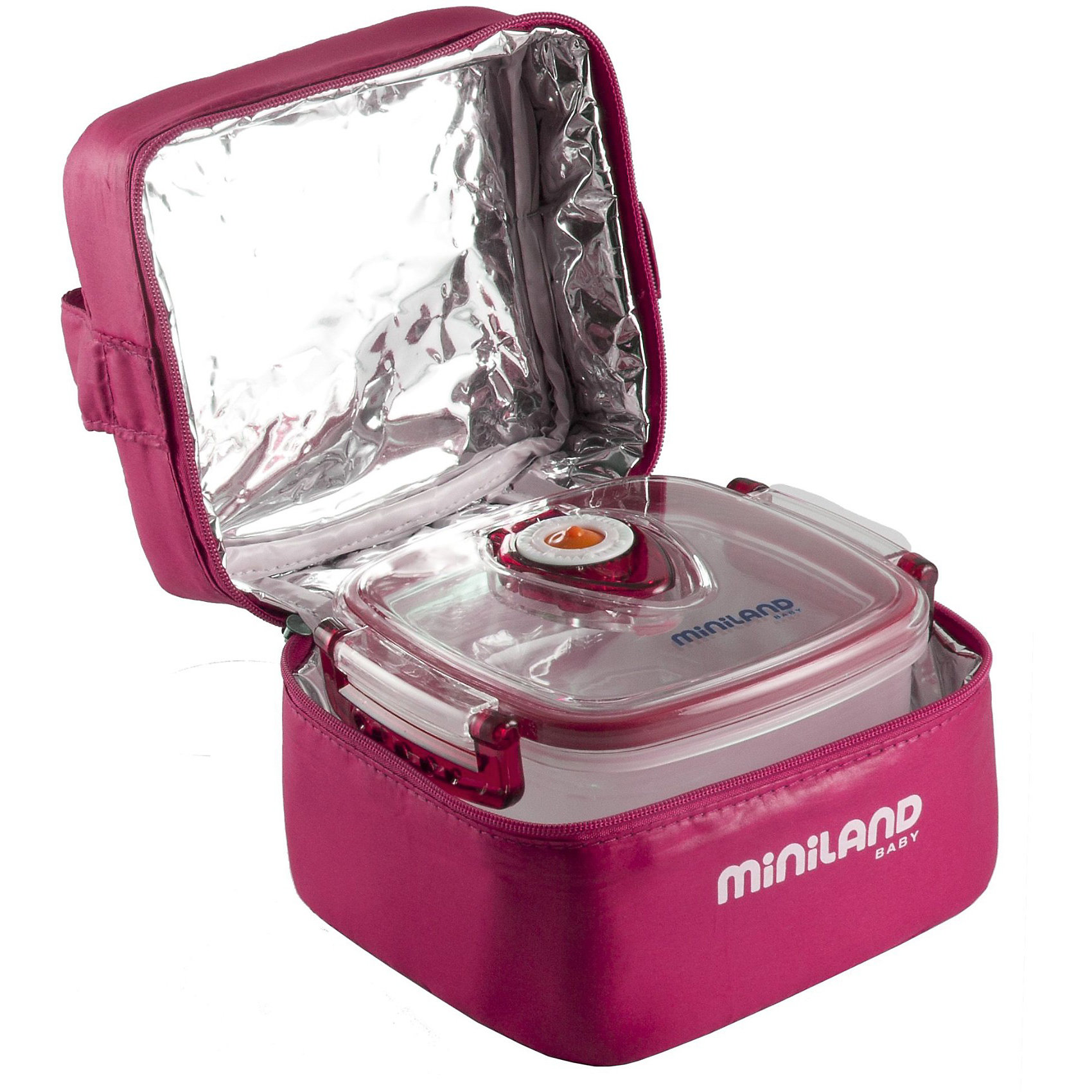 Термосумка с 2-мя вакуумными контейнерами, HERMIFRESH, розовыйТермосумки и термосы<br>Удобная и практичная Термосумка Hermifresh поможет Вам накормить малыша во время прогулок и путешествий в любом месте. Сумка изготовлена плотного термоматериала, который помогает поддерживать нужную температуру пищи в течение длительного периода времени. Внутри сумки 2 герметичных контейнера, которые отлично подойдут для хранения детского питания, пюре и каш, они оснащены системой вытяжки воздуха с помощью воздушного клапана. Контейнеры можно извлечь из сумки и замораживать в холодильнике, разогревать в микроволновой печи и мыть в посудомоечной машине.<br>Сумка застегивается на молнию, имеются большой карман, удобная ручка для транспортировки и липучки для крепления к коляске или сумке.  <br><br>Дополнительная информация:<br><br>- В комплекте: термосумка и 2 вакуумных контейнера.<br>- Цвет: розовый.<br>- Материал: плотный термоматериал, пластик.<br>- Объем контейнера: 330 мл.<br>- Размеры сумки: 16 х 13 х 11 см.<br>- Размер контейнера: 13,5 х 12 х 4,5 см.<br>- Вес: 0,4 кг.<br><br>Термосумку с 2-мя вакуумными контейнерами Pack-2-Go Hermifresh можно купить в нашем интернет-магазине.<br><br>Ширина мм: 154<br>Глубина мм: 135<br>Высота мм: 118<br>Вес г: 353<br>Цвет: розовый<br>Возраст от месяцев: 0<br>Возраст до месяцев: 23<br>Пол: Унисекс<br>Возраст: Детский<br>SKU: 3827594