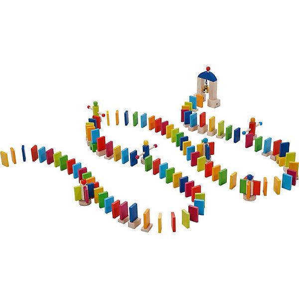 Конструктор Домино,  gokiДеревянные конструкторы<br>Конструктор Домино,  goki (гоки) – это интересная и увлекательная активная игра для детей.<br>Конструктор Домино приведет в восторг не только малыша, но и его родителей. В набор входит огромное количество элементов, включая ворота с колокольчиком. Костяшки выстраиваются в определенном порядке, чередуясь с другими интересными элементами. В основе игры лежит принцип домино: когда костяшки домино падают, сбивая одну за другой. Последняя - при падении задевает колокольчик в воротах, сообщая об удачном конце игры. Чтобы падение получилось более эффектным можно использовать маленькие деревянные мельницы из набора. Элементы можно выстраивать рядами и затейливыми узорами. Ребенку будет очень интересно наблюдать, как падают детальки домино. Игра прекрасно развивает моторику рук, внимание, усидчивость малыша. Все детали набора выполнены из дерева и покрашены нетоксичной краской на водной основе.<br><br>Дополнительная информация:<br><br>- В наборе: костяшки домино, подставка под костяшки домино (чтобы их делать выше), 5 мельниц, ворота с колокольчиком<br>- Всего: 247 элементов<br>- Размер элемента: 2x4 см.<br>- Цвета: синий, зеленый, желтый, красный, розовый<br>- Материал: древесина, нетоксичные краски на водной основе<br>- Упаковка: картонная коробка и холщовый мешочек для деталей<br>- Размер упаковки: 30,1 х30,1х9,6 см.<br>- Вес: 1545 гр.<br><br>Конструктор Домино,  goki (гоки) можно купить в нашем интернет-магазине.<br><br>Ширина мм: 297<br>Глубина мм: 292<br>Высота мм: 98<br>Вес г: 1510<br>Возраст от месяцев: 36<br>Возраст до месяцев: 72<br>Пол: Унисекс<br>Возраст: Детский<br>SKU: 3830757