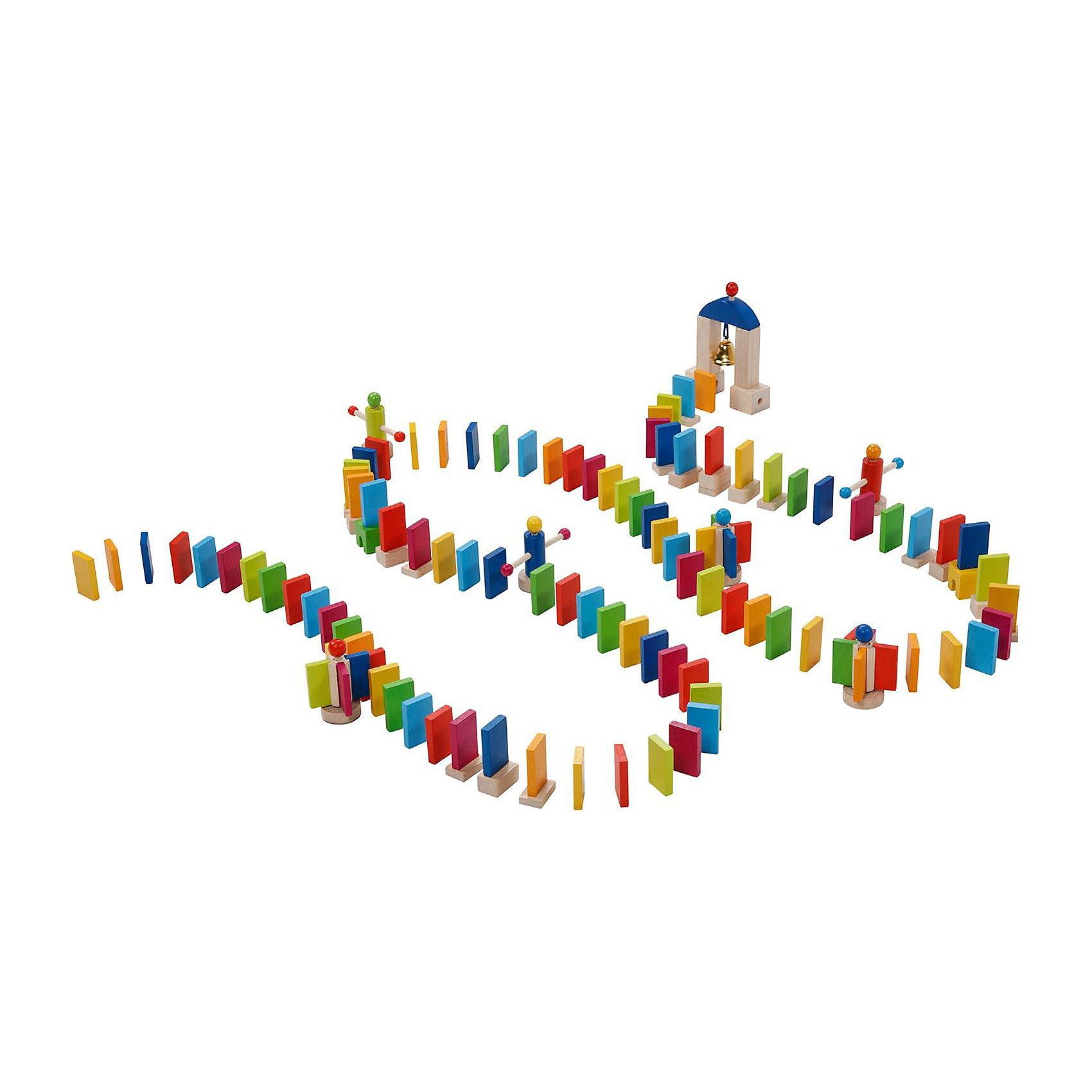 Конструктор Домино,  gokiКонструктор Домино,  goki (гоки) – это интересная и увлекательная активная игра для детей.<br>Конструктор Домино приведет в восторг не только малыша, но и его родителей. В набор входит огромное количество элементов, включая ворота с колокольчиком. Костяшки выстраиваются в определенном порядке, чередуясь с другими интересными элементами. В основе игры лежит принцип домино: когда костяшки домино падают, сбивая одну за другой. Последняя - при падении задевает колокольчик в воротах, сообщая об удачном конце игры. Чтобы падение получилось более эффектным можно использовать маленькие деревянные мельницы из набора. Элементы можно выстраивать рядами и затейливыми узорами. Ребенку будет очень интересно наблюдать, как падают детальки домино. Игра прекрасно развивает моторику рук, внимание, усидчивость малыша. Все детали набора выполнены из дерева и покрашены нетоксичной краской на водной основе.<br><br>Дополнительная информация:<br><br>- В наборе: костяшки домино, подставка под костяшки домино (чтобы их делать выше), 5 мельниц, ворота с колокольчиком<br>- Всего: 247 элементов<br>- Размер элемента: 2x4 см.<br>- Цвета: синий, зеленый, желтый, красный, розовый<br>- Материал: древесина, нетоксичные краски на водной основе<br>- Упаковка: картонная коробка и холщовый мешочек для деталей<br>- Размер упаковки: 30,1 х30,1х9,6 см.<br>- Вес: 1545 гр.<br><br>Конструктор Домино,  goki (гоки) можно купить в нашем интернет-магазине.<br><br>Ширина мм: 297<br>Глубина мм: 292<br>Высота мм: 98<br>Вес г: 1773<br>Возраст от месяцев: 36<br>Возраст до месяцев: 72<br>Пол: Унисекс<br>Возраст: Детский<br>SKU: 3830757