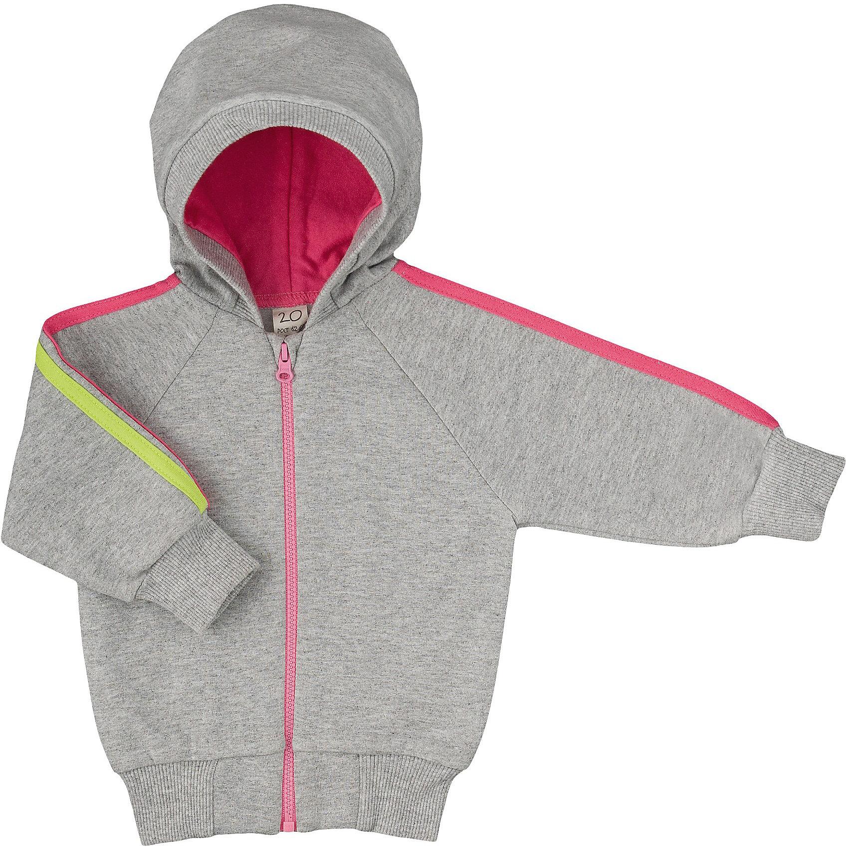 Утепленная толстовка для девочки Lucky ChildТолстовки, свитера, кардиганы<br>Толстовка из утепленного трикотажа на молнии с капюшоном, изделие декорировано лампасами.<br>Состав:<br>100% хлопок<br><br>Ширина мм: 157<br>Глубина мм: 13<br>Высота мм: 119<br>Вес г: 200<br>Цвет: серый<br>Возраст от месяцев: 9<br>Возраст до месяцев: 12<br>Пол: Женский<br>Возраст: Детский<br>Размер: 74/80,86/92,62/68,56/62,68/74,80/86<br>SKU: 3833108