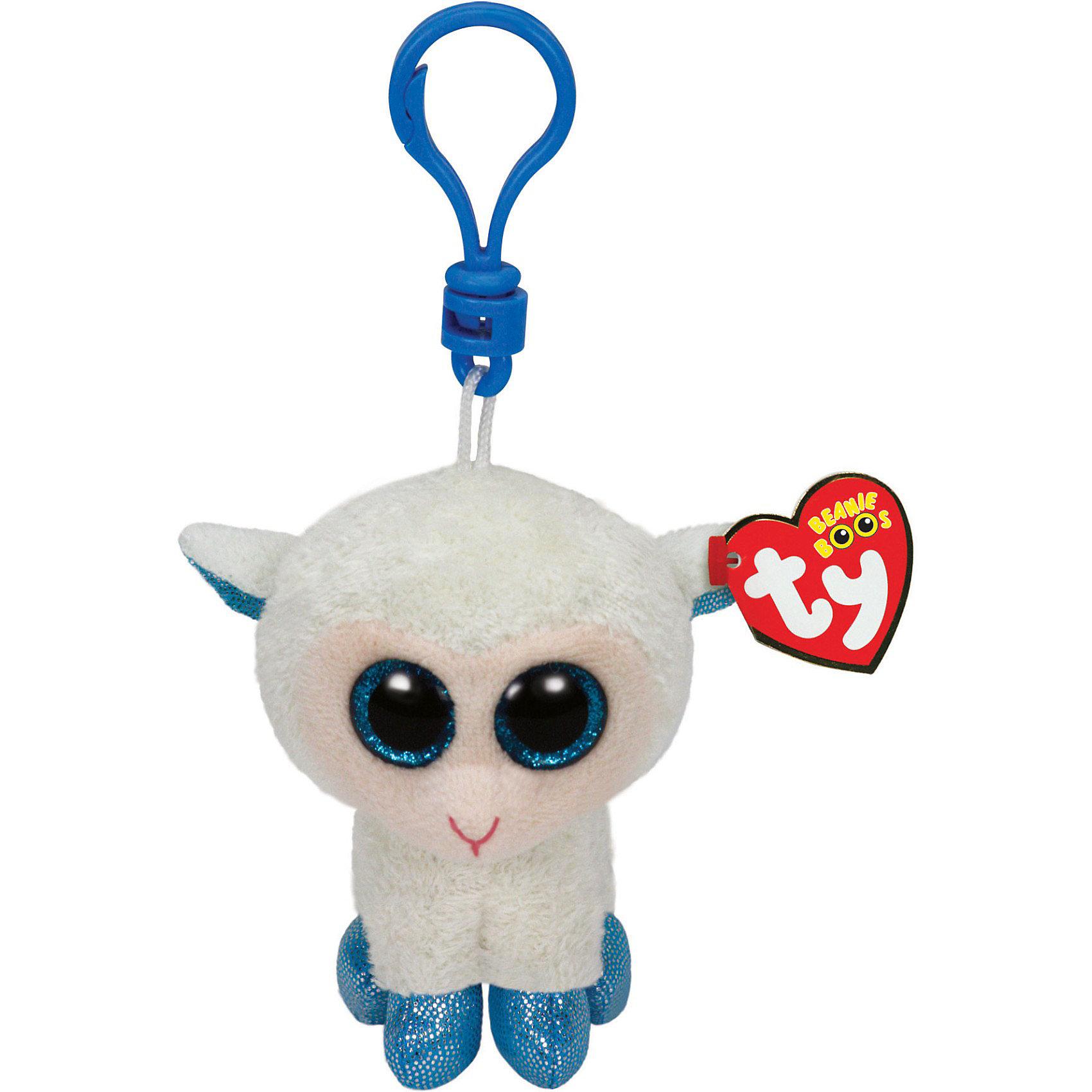 Ty Брелок Овечка, с голубыми копытцами, 12 см,  Ty фонарь брелок эра 1xled с лазерной указкой