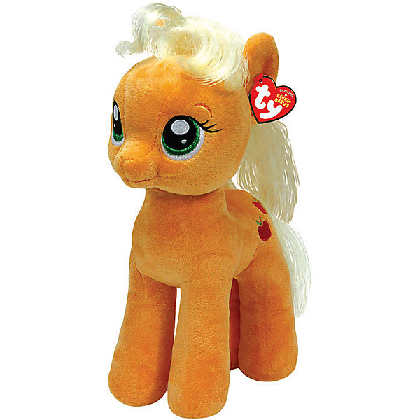Пони Эппл Джек, 51см,  My little PonyИгрушки<br>Мягкая игрушка Пони Эппл Джек, My little Pony порадует всех юных поклонниц волшебных лошадок из популярного мультсериала Моя маленькая Пони: Дружба -это чудо( My Little Pony: Friendship Is Magic). Пони Эпплджек (Apple Jack) самая трудолюбивая лошадка во всей Эквестрии, она живет и работает на большой ферме вместе со своими многочисленными<br>родственниками.<br><br>Внешний вид игрушки полностью соответствует своей героине из мультфильма. У лошадки мягкая, приятная на ощупь рыжая шерстка и желтая грива. Глазки и знак отличия - красные яблочки искусно вышиты. Игрушка выполнена из качественных, безопасных для детей материалов.<br><br>Дополнительная информация:<br><br>- Материал: искусственный мех, синтепон.<br>- Размер игрушки: 51 см.<br>- Размер упаковки: 40 x 25 x 51 см.<br>- Вес: 0,3 кг.<br><br>Мягкую игрушку Пони Эппл Джек, My little Pony (Май литл Пони) можно купить в нашем интернет-магазине.<br>Ширина мм: 400; Глубина мм: 250; Высота мм: 510; Вес г: 300; Возраст от месяцев: 24; Возраст до месяцев: 120; Пол: Женский; Возраст: Детский; SKU: 3833922;