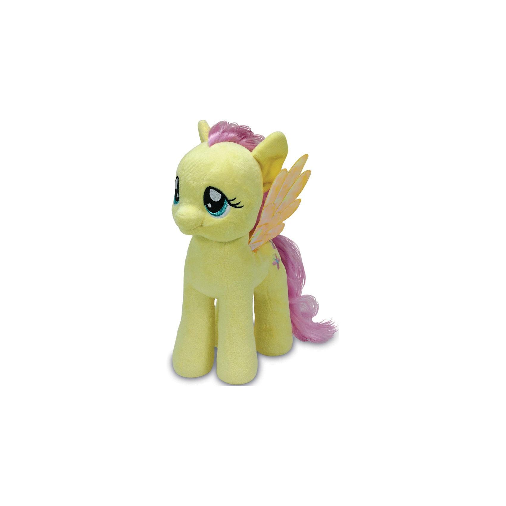 Пони Флаттершай, 51см,  My little PonyМягкая игрушка Пони Флаттершай, My little Pony порадует всех юных поклонниц волшебных лошадок из популярного мультсериала Моя маленькая Пони: Дружба -это чудо ( My Little Pony: Friendship IsMagic). Пони Флаттершай (Fluttershy) - добрая, застенчивая пони-пегас, она очень любит животных и понимает их язык. Внешний вид игрушки полностью соответствует своей героине из мультфильма. У лошадки мягкая, приятная на ощупь желтая шерстка, розовые грива и хвост и блестящие крылышки. Глазки и знак отличия - порхающие бабочки искусно вышиты. Игрушка выполнена из качественных, безопасных для детей материалов.<br><br>Дополнительная информация:<br><br>- Материал: искусственный мех, синтепон.<br>- Размер игрушки: 51 см.<br>- Размер упаковки: 40 x 25 x 51 см.<br>- Вес: 0,3 кг.<br><br>Мягкую игрушку Пони Флаттершай, My little Pony (Май литл Пони) можно купить в нашем интернет-магазине.<br><br>Ширина мм: 400<br>Глубина мм: 250<br>Высота мм: 510<br>Вес г: 300<br>Возраст от месяцев: 24<br>Возраст до месяцев: 120<br>Пол: Женский<br>Возраст: Детский<br>SKU: 3833923