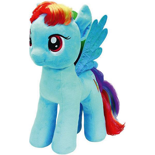 Пони Радуга Дэш, 51 см,  My little PonyМягкие игрушки из мультфильмов<br>Мягкая игрушка Пони Радуга Дэш, My little Pony порадует всех юных поклонниц волшебных лошадок из популярного мультсериала Моя маленькая Пони: Дружба -это чудо ( My Little Pony: Friendship IsMagic). Пони Радуга Дэш (Rainbow Dash) - быстрая, ловкая и умелая лошадка-пегас с взъерошенной радужной гривой и хвостом, в Понивилле она выполняет ответственную работу: очищает небо, разгоняя облака. <br><br>Внешний вид игрушки полностью соответствует своей героине из мультфильма. У лошадки мягкая, приятная на ощупь голубая шерстка, радужные грива и хвост и голубые крылышки. Глазки и знак отличия - радуга с облаком искусно вышиты. Игрушка выполнена из качественных, безопасных для детей материалов.<br><br>Дополнительная информация:<br><br>- Материал: искусственный мех, синтепон.<br>- Размер игрушки: 51 см.<br>- Размер упаковки: 40 x 25 x 51 см.<br>- Вес: 0,3 кг.<br><br>Мягкую игрушку Пони Радуга Дэш, My little Pony (Май литл Пони) можно купить в нашем интернет-магазине.<br><br>Ширина мм: 400<br>Глубина мм: 250<br>Высота мм: 510<br>Вес г: 300<br>Возраст от месяцев: 24<br>Возраст до месяцев: 120<br>Пол: Женский<br>Возраст: Детский<br>SKU: 3833925