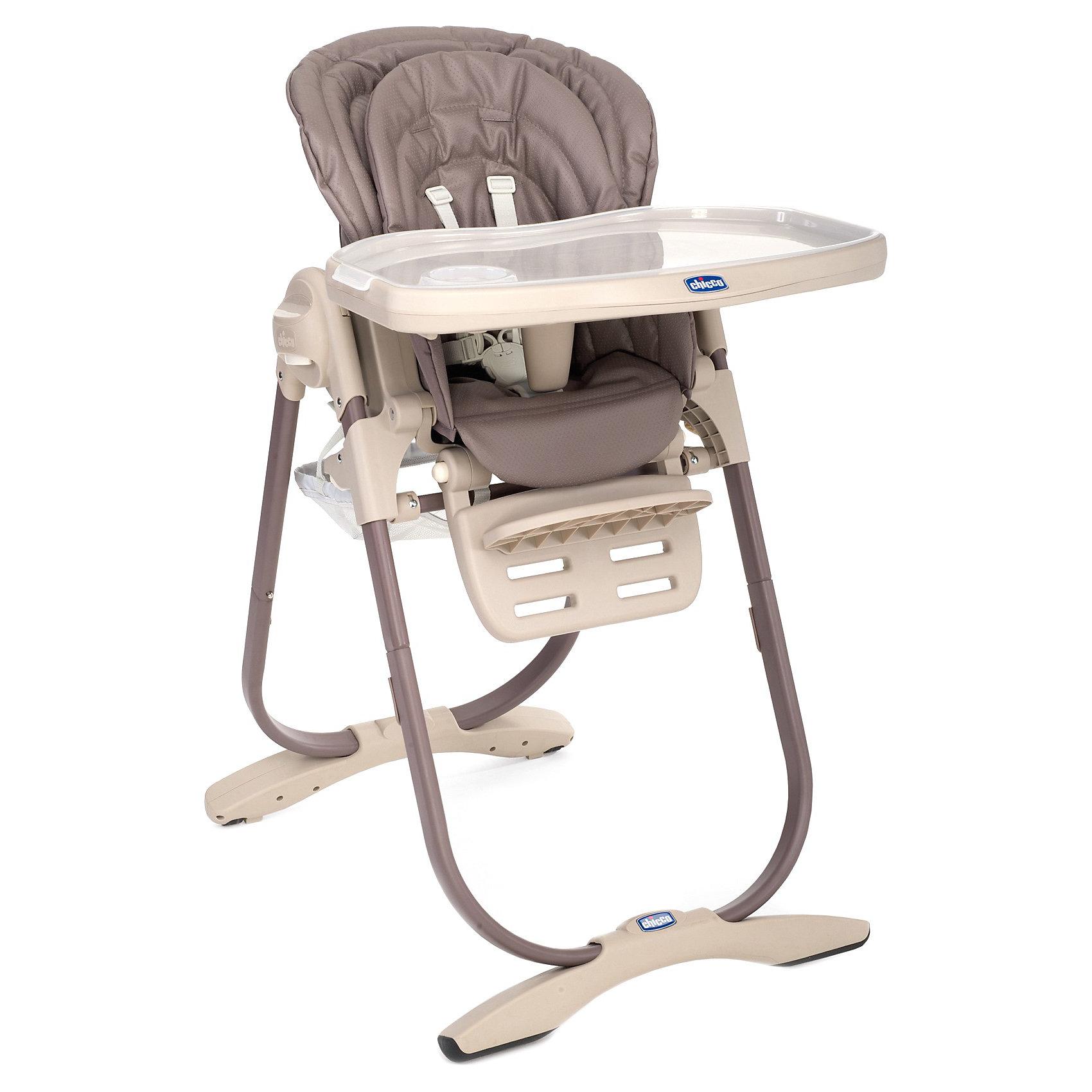 Стульчик для кормления Polly Magic Cocao, ChiccoСтульчики для кормления<br>Стульчик для кормления Polly Magic Cocao, Chicco (Чико), обеспечит комфорт и безопасность Вашего малыша во время кормления. Спинка сиденья регулируется в 3 положениях (сидя, полусидя, лежа), что позволяет использовать стульчик как для кормления так и для игр и сна. Для новорожденных детей до 6 месяцев можно использовать стульчик как шезлонг, установив спинку в положении полулежа и прикрепив дугу с разноцветными игрушками. Для детей возрастом от 6 до 12 месяцев его можно превратить в высокий детский стульчик. Удобное эргономичное сиденье оснащено регулируемыми 5-точечными ремнями безопасности, внутри имеется съемный мягкий вкладыш с набивкой. Высота стула регулируется в 6 положениях. Подножка также регулируется в 3-х положениях по высоте. <br><br>Широкий съемный столик имеет крышку с отделением для кружки или стакана, которую можно снять и использовать основную поверхность для игр и занятий. Столик легко снимается нажатием одной кнопки. Для детей от года до 3 лет стул можно использовать без столика для<br>кормления, придвинув его к столу для взрослых. Внизу стульчика крепится вместительная корзина для детских принадлежностей. Тканевые детали снимаются для чистки. Стульчик легко складывается с помощью кнопки регулировки и складывания Easy Touch и занимает мало места при хранении.<br><br>Дополнительная информация:<br><br>- Цвет: cacao.<br>- Материал: пластик, металл, текстиль.<br>- Размер в разложенном состоянии: 104,5 х 63,5 х 85 см. <br>- Размер в сложенном состоянии: 100 х 55 х 27 см. <br>- Вес: 12,535 кг.<br><br>Стульчик для кормления Polly Magic Cocao, Chicco (Чико), можно купить в нашем интернет-магазине.<br><br>Ширина мм: 620<br>Глубина мм: 560<br>Высота мм: 315<br>Вес г: 12758<br>Цвет: коричневый<br>Возраст от месяцев: 6<br>Возраст до месяцев: 36<br>Пол: Унисекс<br>Возраст: Детский<br>SKU: 3836623