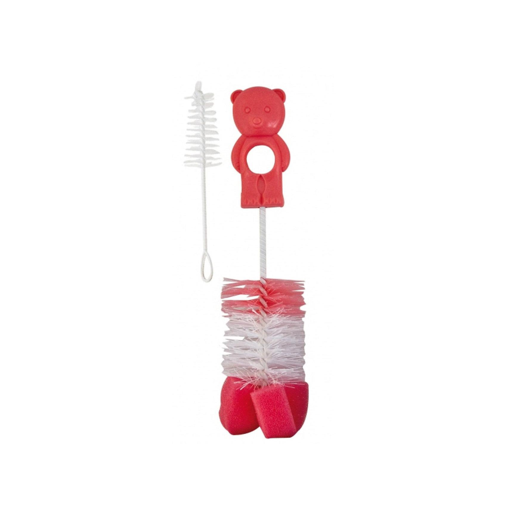 Ёршик для мытья детских бутылок, Canpol Babies, красныйЕршик для бутылочек Canpol Babies позволит качественно удалить остатки пищи из бутылочки, не повредив поверхности!<br>Ершик предназначен для тщательной очистки бутылочек перед стерилизацией. Для того чтобы обеспечить удобную и тщательную очистку, ершик снабжен вращающейся изогнутой ручкой, а конец ершика сделан из мягкой губки специальной формы. Благодаря этому очистка будет бережной и не оставит царапин на поверхности. <br>В комплект также входит маленькая кисточка / губка для чистки сосок.<br>Ершик для бутылочек Canpol Babies можно купить в нашем интернет-магазине.<br><br>Внимание! Товар может быть как в новом, так и в старом дизайне.<br><br>Ширина мм: 390<br>Глубина мм: 102<br>Высота мм: 50<br>Вес г: 39<br>Возраст от месяцев: 1<br>Возраст до месяцев: 18<br>Пол: Унисекс<br>Возраст: Детский<br>SKU: 3837112