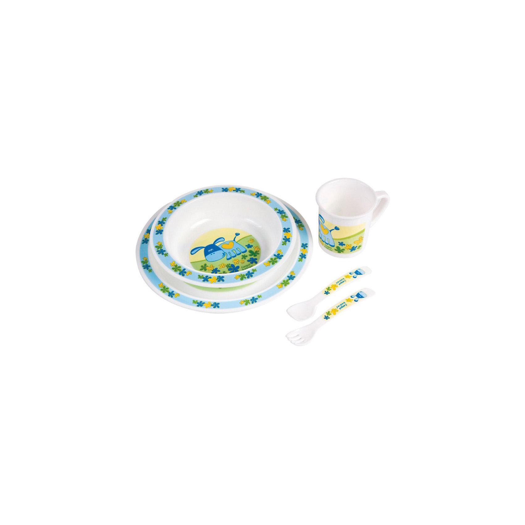 Набор посуды, Canpol, голубой