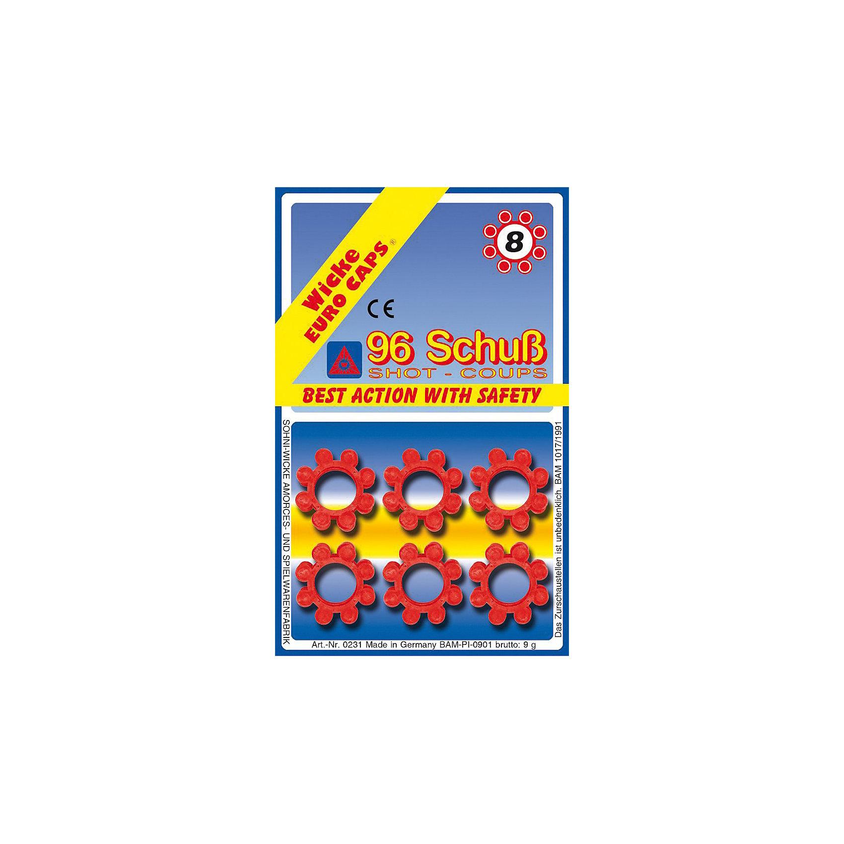 8-зарядные пистоны, 96 шт,  Sohni-Wicke8-зарядные пистоны, 96 шт,  Sohni-Wicke (Сони-Вике) – это набор пластиковых пистонов, рассчитанных на 96 выстрелов.<br>Стартовый набор 8-зарядных пистонов. Подходит для детского оружия соответствующей ёмкости магазина: винтовки Arizona и Rapid Fire, пистолеты Schrodel, Jerry, Jerry АГЕНТ, Mega Gun АГЕНТ, Olly, Powerman, Ringo, Ringo АГЕНТ и Texas Rapido. Сони-Вике (Sohni-Wicke) - один из основных производителей пистонных пистолетов и винтовок, а также пистонов для игрушечного оружия в Европе. Пистоны и пистолеты компании прошли все испытания в соответствии с европейскими стандартами качества. Используйте пистоны на достаточном расстоянии от лица и ушей. Стрельба из пистонных пистолетов на близком расстоянии к ушам может привести к повреждению слуха. Не стреляйте в помещении.<br><br>Дополнительная информация:<br><br>- В комплекте: 12 обойм пистонов (по 8 зарядов)<br>- Материал: пластик<br>- Упаковка: блистер<br>- Размер упаковки: 150х94х90 мм.<br>- Рекомендуемый возраст: от 8 лет<br>- Внимание: мелкие детали! Игрушка не подходит для детей младше 3 лет<br>- До использования игрушки обязательно ознакомьтесь с мерами безопасности и рекомендациями во время игры<br><br>8-зарядные пистоны, 96 шт,  Sohni-Wicke (Сони-Вике) можно купить в нашем интернет-магазине.<br><br>Ширина мм: 150<br>Глубина мм: 94<br>Высота мм: 90<br>Вес г: 100<br>Возраст от месяцев: 96<br>Возраст до месяцев: 168<br>Пол: Мужской<br>Возраст: Детский<br>SKU: 3838996