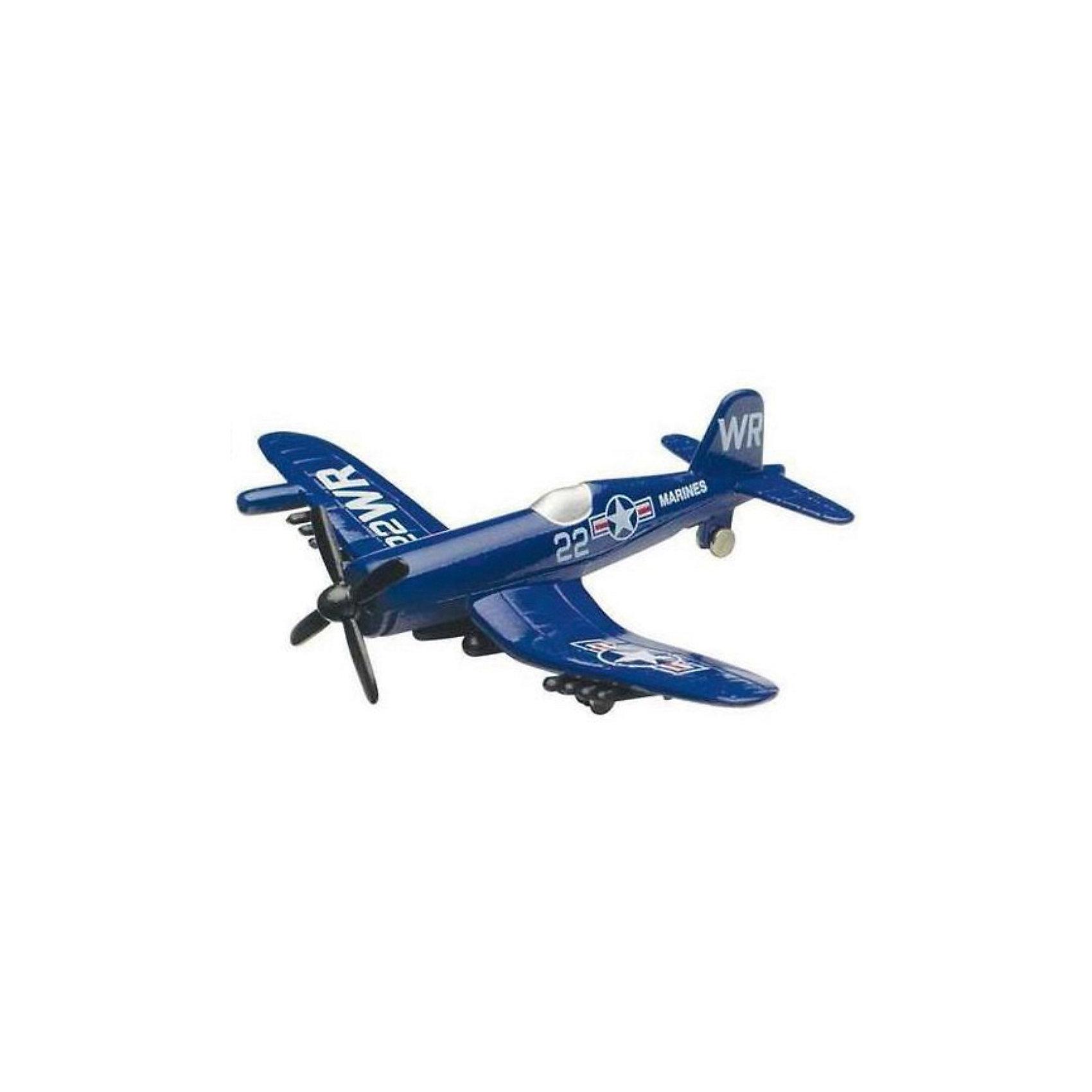 Самолет F4U-1D Corsair,  MotormaxВоенный транспорт<br>Самолет F4U-1D Corsair,  Motormax (Мотормакс) – это отличное пополнение коллекции авиационной техники.<br>Коллекционная игрушка самолет  F4U-1D Corsair (F4U Корсар) от компании Motormax (Мотормакс) в точности повторяет контуры американского однопалубного истребителя времен Второй мировой, чем вызовет неподдельный интерес, как у ребенка, так и взрослого коллекционера. Модель максимально приближена к своему прототипу. По сути это уменьшенная копия настоящего самолета, сохранившая его пропорции и узнаваемые элементы. Стоит также отметить хорошую для таких размеров детализацию. Модель самолета изготовлена из прочного и качественного пластика, поэтому может использоваться и для обычной игры.<br><br>Дополнительная информация:<br><br>- Длина самолета: 9 см.<br>- Материал: пластик<br><br>Самолет F4U-1D Corsair,  Motormax (Мотормакс) можно купить в нашем интернет-магазине.<br><br>Ширина мм: 127<br>Глубина мм: 30<br>Высота мм: 178<br>Вес г: 80<br>Возраст от месяцев: 36<br>Возраст до месяцев: 168<br>Пол: Мужской<br>Возраст: Детский<br>SKU: 3839005