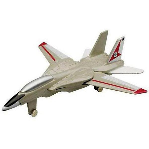Самолет F-14 Tomcat,  MotormaxВоенный транспорт<br>Самолет F-14 Tomcat,  Motormax (Мотормакс) – это отличное пополнение коллекции авиационной техники.<br>Коллекционная игрушка самолет F-14 Tomcat (Ф-14 Томкэт) от компании Motormax (Мотормакс) в точности повторяет контуры американского двухместного реактивного истребителя-перехватчика четвёртого поколения с изменяемой геометрией крыла, чем вызовет неподдельный интерес, как у ребенка, так и взрослого коллекционера. Модель максимально приближена к своему прототипу. По сути это уменьшенная копия настоящего самолета, сохранившая его пропорции и узнаваемые элементы. Стоит также отметить хорошую для таких размеров детализацию. Модель самолета изготовлена из прочного и качественного пластика, поэтому может использоваться и для обычной игры.<br><br>Дополнительная информация:<br><br>- Длина самолета: 9 см.<br>- Материал: пластик<br><br>Самолет F-14 Tomcat,  Motormax (Мотормакс) можно купить в нашем интернет-магазине.<br><br>Ширина мм: 127<br>Глубина мм: 30<br>Высота мм: 178<br>Вес г: 80<br>Возраст от месяцев: 36<br>Возраст до месяцев: 168<br>Пол: Мужской<br>Возраст: Детский<br>SKU: 3839006