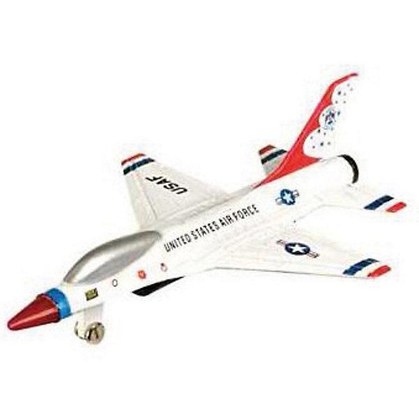 Самолет F-16,  MotormaxВоенный транспорт<br>Самолет F-16,  Motormax (Мотормакс) – это отличное пополнение коллекции авиационной техники.<br>Коллекционная игрушка самолет F-16 от компании Motormax (Мотормакс) в точности повторяет контуры американского истребителя, который выпускается, по сей день, чем вызовет неподдельный интерес, как у ребенка, так и взрослого коллекционера. Модель максимально приближена к своему прототипу. По сути это уменьшенная копия настоящего самолета, сохранившая его пропорции и узнаваемые элементы. Стоит также отметить хорошую для таких размеров детализацию. Модель самолета изготовлена из прочного и качественного пластика, поэтому может использоваться и для обычной игры.<br><br>Дополнительная информация:<br><br>- Длина самолета: 9 см.<br>- Материал: пластик<br><br>Самолет F-16,  Motormax (Мотормакс) можно купить в нашем интернет-магазине.<br><br>Ширина мм: 127<br>Глубина мм: 30<br>Высота мм: 178<br>Вес г: 80<br>Возраст от месяцев: 36<br>Возраст до месяцев: 168<br>Пол: Мужской<br>Возраст: Детский<br>SKU: 3839008