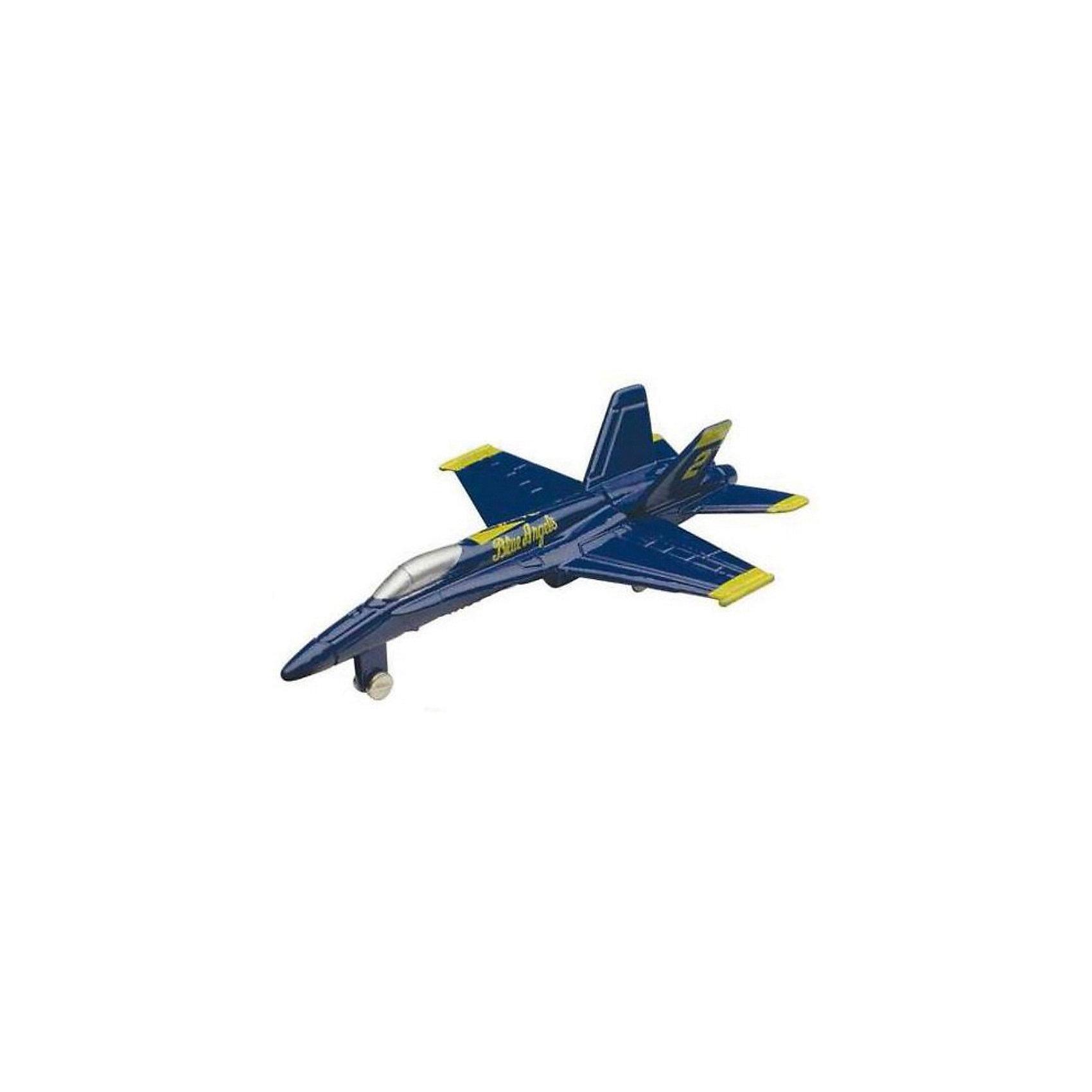 Самолет F/A-18 Hornet,  MotormaxСамолёты и вертолёты<br>Самолет F/A-18 Hornet,  Motormax (Мотормакс) – это отличное пополнение коллекции авиационной техники.<br>Коллекционная игрушка самолет F/A-18 Hornet (Хорнет) от компании Motormax (Мотормакс) в точности повторяет контуры американского палубного истребителя-бомбардировщика и штурмовика, чем вызовет неподдельный интерес, как у ребенка, так и взрослого коллекционера. Модель максимально приближена к своему прототипу. По сути это уменьшенная копия настоящего самолета, сохранившая его пропорции и узнаваемые элементы. Стоит также отметить хорошую для таких размеров детализацию. Модель самолета изготовлена из прочного и качественного пластика, поэтому может использоваться и для обычной игры.<br><br>Дополнительная информация:<br><br>- Длина самолета: 9 см.<br>- Материал: пластик<br><br>Самолет F/A-18 Hornet,  Motormax (Мотормакс) можно купить в нашем интернет-магазине.<br><br>Ширина мм: 127<br>Глубина мм: 30<br>Высота мм: 178<br>Вес г: 80<br>Возраст от месяцев: 36<br>Возраст до месяцев: 168<br>Пол: Мужской<br>Возраст: Детский<br>SKU: 3839009