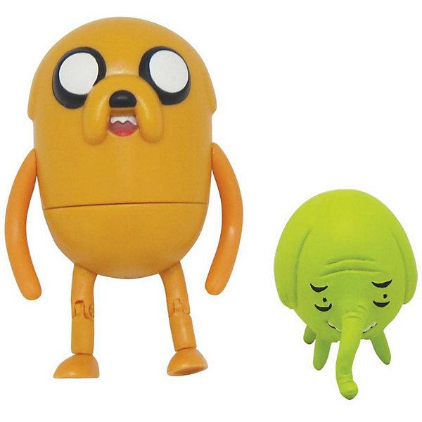 Фигурки Джейк и Деревяшка, 2в1, 6 см, Время приключенийФигурки из мультфильмов<br>Фигурки Джейк и Деревяшка, 2 в 1, Adventure Time - забавные игрушки, созданные по мотивам американского мультсериала Adventure Time (Время приключений), повествующего о необыкновенных и веселых приключениях мальчика Финна и его волшебной собаки Джейка. Набор станет приятным сюрпризом для всех поклонников этого мультсериала. В комплекте две фигурки: пес Джейк и слониха Деревяшка. Фигурка Джейка выполнена из эластичного материала и может принимать  различные положения, лапки подвижны, тело поворачивается. <br><br>Дополнительная информация:<br><br>- В комплекте: 2 фигурки.<br>- Материал: пластик.<br>- Размер фигурки Джейка: 6 см.<br>- Размер фигурки Деревяшки: 3,5 см.<br>- Размер упаковки: 20,5 х 15 х 5 см.<br>- Вес: 0,35 кг.<br><br>Фигурки Джейк и Деревяшка, 2 в 1, Adventure Time можно купить в нашем интернет-магазине.<br>Ширина мм: 55; Глубина мм: 150; Высота мм: 180; Вес г: 350; Возраст от месяцев: 48; Возраст до месяцев: 192; Пол: Унисекс; Возраст: Детский; SKU: 3841370;