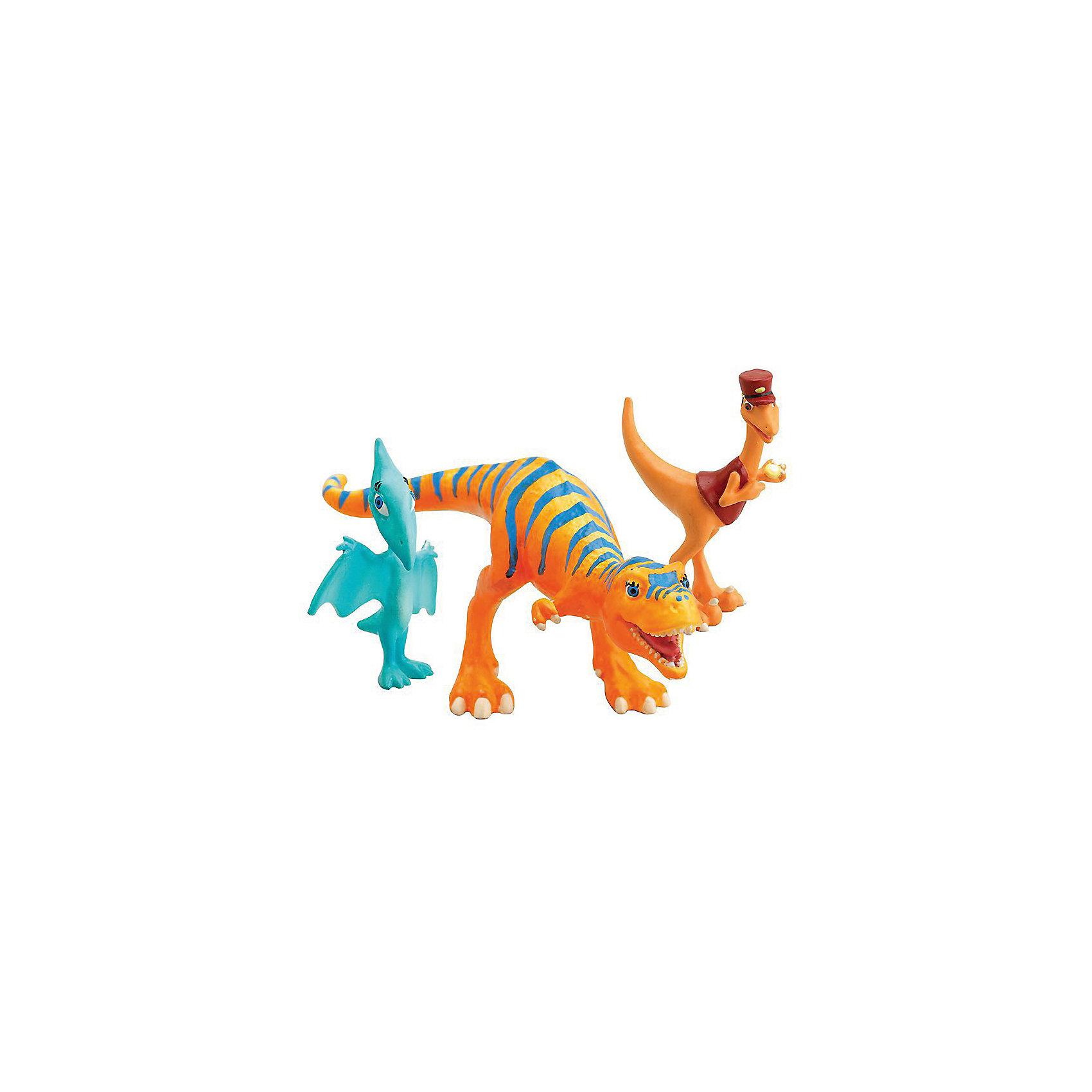 Набор из 3х фигурок (Долорес, Кондуктор, Шайни), Поезд динозавров, TOMY