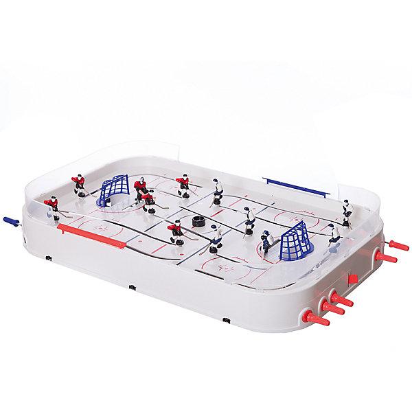 Настольная игра Хоккей, Играем вместеИгрушки по суперценам!<br>Настольная игра Хоккей, Играем вместе – это игра станет отличным подарком не только ребенку, но и взрослому, любящему спортивные игры.<br>Как же увлекательно гонять шайбу по хоккейному полю! Эта игра надолго увлечет как детей, так и их родителей. Хоккейный набор от бренда «Играем вместе» прослужит вам долго, ведь набор произведен с соблюдением высочайших стандартов качества. Игрушка снабжена надежными ножками, которые устойчиво держат игровое поле даже во время самой интенсивной игры. Все комплектующие собираются легко и быстро, что позволит незамедлительно приступить к игре сразу же после открытия коробки. Каждый игрок на поле имеет свой номер. Есть возможность осуществлять игру, как коньками, так и клюшкой. Игроки противоборствующих команд могут заезжать на поле противника, что позволяет провести больше маневров в процессе атаки. Игра развивает ловкость, быстроту реакции, стремление к победе и соревновательные навыки.<br><br>Дополнительная информация:<br><br>- Комплектация: 2 прозрачных бортика из пластика, две хоккейные команды, пара ворот с сеткой, шесть ножек для крепления на столе, подробная инструкция<br>- Материал: высококачественный пластик, металл<br>- Размер упаковки: 75 x 42 x 9 см.<br>- Вес: 3330 гр.<br><br>Настольную игру Хоккей, Играем вместе можно купить в нашем интернет-магазине.<br><br>Ширина мм: 90<br>Глубина мм: 430<br>Высота мм: 760<br>Вес г: 3330<br>Возраст от месяцев: 36<br>Возраст до месяцев: 120<br>Пол: Мужской<br>Возраст: Детский<br>SKU: 3848612