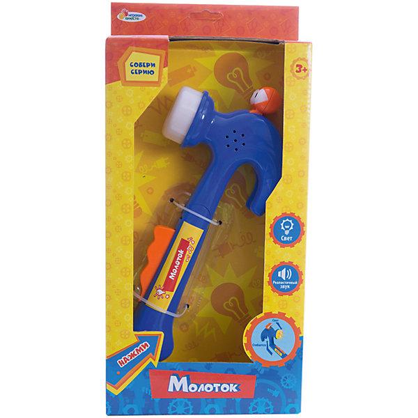 Молоток Фиксики,  со светом и звуком, Играем вместеИгрушки<br>Молоток Фиксики,  со светом и звуком, Играем вместе – это отличная игрушка для тех малышей, кто любит стучать и греметь.<br>Милая игрушка молоток Фиксики, обязательно понравится вашему малышу. Игрушка развивающая, оснащена световыми и звуковыми эффектами. Если ребенок ударит молоточком, то раздаться реалистичный звук, а также загорится огонек. Веселая игра обязательно увлечет малыша.<br><br>Дополнительная информация:<br><br>- Материал: пластик<br>- Размер упаковки: 7х17х35 см.<br>- Вес: 390 гр.<br><br>Молоток Фиксики,  со светом и звуком, Играем вместе можно купить в нашем интернет-магазине.<br>Ширина мм: 70; Глубина мм: 170; Высота мм: 350; Вес г: 390; Возраст от месяцев: 12; Возраст до месяцев: 60; Пол: Мужской; Возраст: Детский; SKU: 3848615;