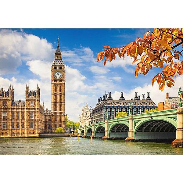 Пазл Сердце Лондона, 1000 деталей, CastorlandПазлы классические<br>Пазл «Сердце Лондона», 1000 деталей, Castorland (Касторленд) - находка для любителя пейзажей. Очутиться в самом сердце Лондона можно, не выходя из дома. С пазлом «Сердце Лондона»,  1000 деталей, Castorland (Касторленд)  Вы увидите и известные на весь мир часы Биг Бен, и мост через знаменитую реку Темзу. Пазл прекрасно подойдет для семейного творчества и поможет увлекательно и с пользой провести не один вечер. Детали пазла выполнены из качественного плотного картона. Процесс сборки пазла подарит Вашему ребенку массу приятных впечатлений, разовьет в нем усидчивость, логическое мышление, поможет стать ему более внимательным.  <br><br>Дополнительная информация: <br><br>- Уникальное качество деталей;<br>- Развивает: воображение, логику, мелкую моторику, память;<br>- Чудесное украшение интерьера;<br>- Прекрасная полиграфия;<br>- Размеры: 24,8 x 34,8 x 5 см;<br>- Размер готовой картинки: 68 х 48 см;<br>- Вес: 0,5 кг.<br><br>Пазл «Сердце Лондона»,  1000 деталей, Castorland (Касторленд)  можно купить в нашем интернет-магазине.<br>Ширина мм: 350; Глубина мм: 50; Высота мм: 250; Вес г: 500; Возраст от месяцев: 168; Возраст до месяцев: 1188; Пол: Унисекс; Возраст: Детский; Количество деталей: 1000; SKU: 3849112;