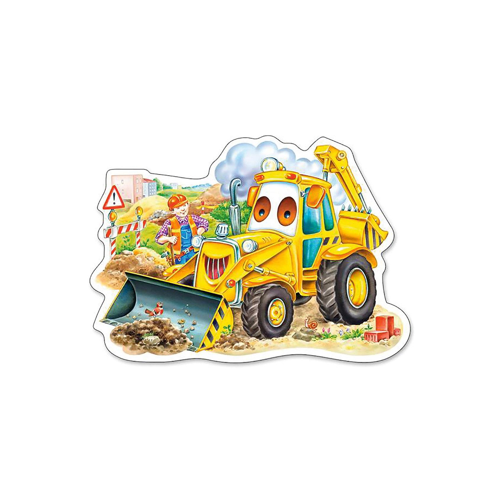 Пазл Трактор, 15 деталей, CastorlandПазлы для малышей<br>Пазл Трактор от Castorland (Касторленд) прекрасно подходит для маленьких исследователей! Подбирая элементы друг к другу, сначала с помощью взрослых, а потом и самостоятельно малыш будет снова и снова тренировать моторику и наблюдательность. Вашего малыша обязательно увлечет это занятие, ведь в конце он обязательно познакомится с симпатичным и очень сильным трактором, который копает землю и помогает строить дорогу.  Собирание пазлов отлично развивает логическое мышление, внимание, память, воображение, мелкую моторику руки и учит правильно воспринимать связь между частью и целым.<br><br>Дополнительная информация:<br><br>- Прекрасный подарок для малыша;<br>- Подходит для начинающих;<br>- Прекрасно развивает моторику и усидчивость;<br>- Отличное качество деталей;<br>- Прослужит долго;<br>- Яркие цвета;<br>- Размер собранной картинки: 22,9 х 16,2 см;<br>- Размер коробки: 13 x 17,5 x 3,7 см;<br>- Вес: 100 г<br><br>Пазл Трактор, 15 деталей, Castorland (Касторленд) можно купить в нашем интернет-магазине.<br><br>Ширина мм: 175<br>Глубина мм: 37<br>Высота мм: 130<br>Вес г: 100<br>Возраст от месяцев: 36<br>Возраст до месяцев: 60<br>Пол: Унисекс<br>Возраст: Детский<br>Количество деталей: 15<br>SKU: 3849116