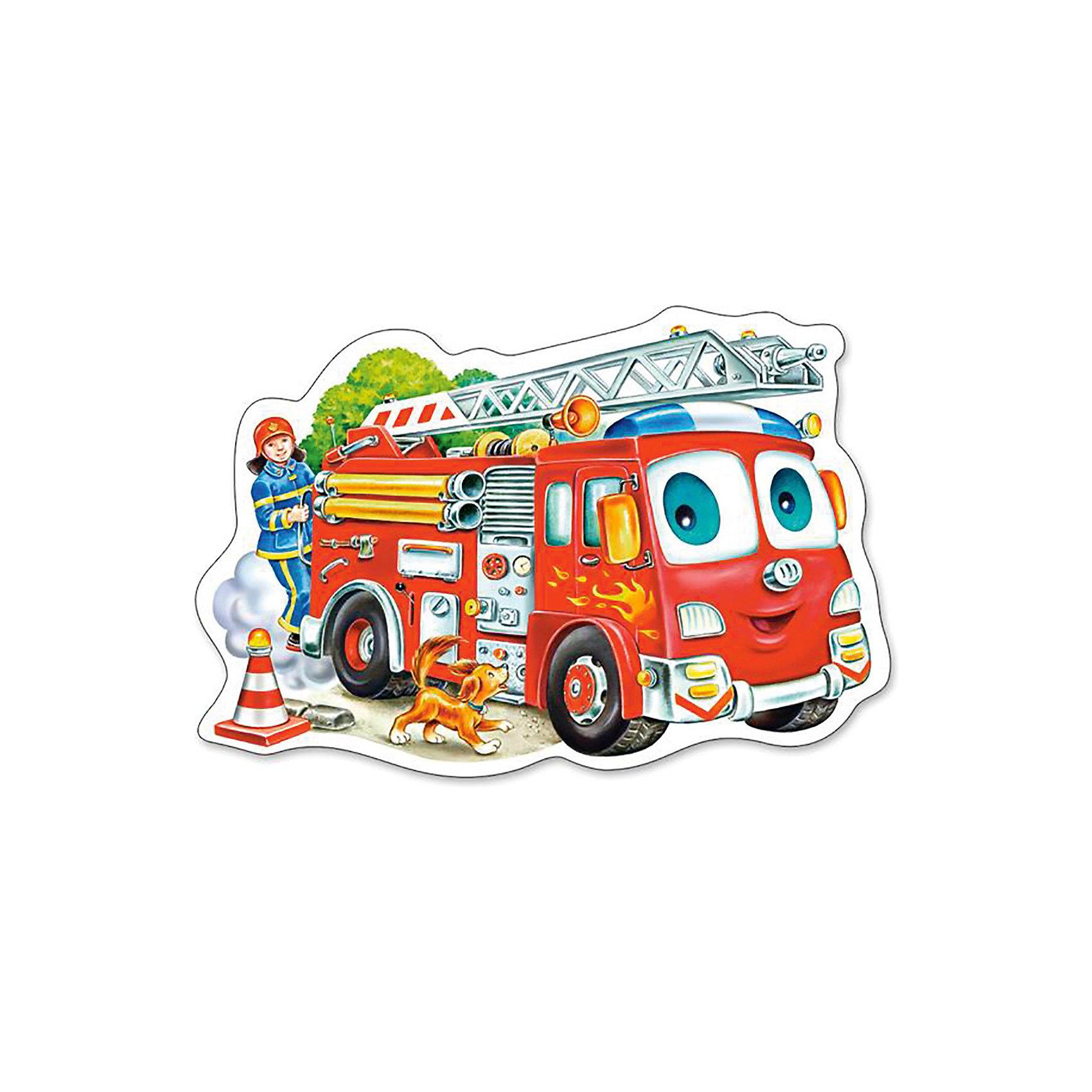Castorland Пазл Пожарная машина, 15 деталей, Castorland castorland пазл красная шапочка castorland 20 деталей