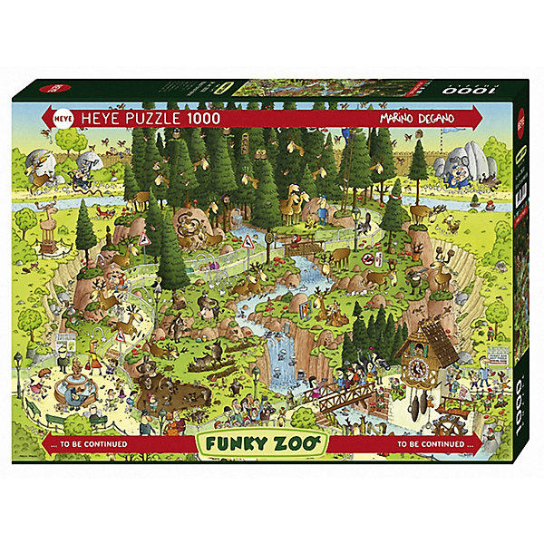 Пазл  Лесной зоопарк,1000 деталей, HeyeПазлы для детей постарше<br>Авторский пазл Лесной зоопарк понравится и взрослым и детям. Главное обладать чувством юмора! Прекрасный юмористический сюжет стараниями Марино Дегано превратился в замечательный пазл, который порадует всю семью и подарит много незабываемых вечеров Вам и Вашим детям! Пазл так интересно рассматривать, ведь на нем в шутливой форме изображен зоопарк, который находится прямо в лесу. Животные здесь мирно сосуществуют и с людьми и с собратьями. Собирать пазл Лесной зоопарк невероятно увлекательно, ведь Вы можете без труда окунуться в шутливый мир, где одновременно происходит множество интересных событий. Картинка состоит из невероятного числа сюжетов, поэтому подбирать детали очень интересно. Яркие цвета, четкое изображение, практически уникальные детали сделают сборку комфортной и удобной. Для изготовления своих необыкновенных пазлов компания Heye (Хейе) использует высококачественный плотный картон, причем каждому фрагменту мозаики характерна своя уникальная форма.<br><br>Дополнительная информация:<br><br>- Автор: Марино Дегано;<br>- Прекрасный подарок;<br>- Уникальное качество деталей;<br>- Детали не расслаиваются;<br>- Разнообразная резка;<br>- Размер готовой картинки: 50 х 70 см;<br>- Размер коробки: 37 x 27 x 5,6 см;<br>- Вес: 0,84 кг<br><br>Пазл Лесной зоопарк, 1000 деталей, Heye (Хейе) можно купить в нашем интернет-магазине.<br><br>Ширина мм: 371<br>Глубина мм: 55<br>Высота мм: 271<br>Вес г: 840<br>Возраст от месяцев: 216<br>Возраст до месяцев: 1188<br>Пол: Унисекс<br>Возраст: Детский<br>Количество деталей: 1000<br>SKU: 3849122
