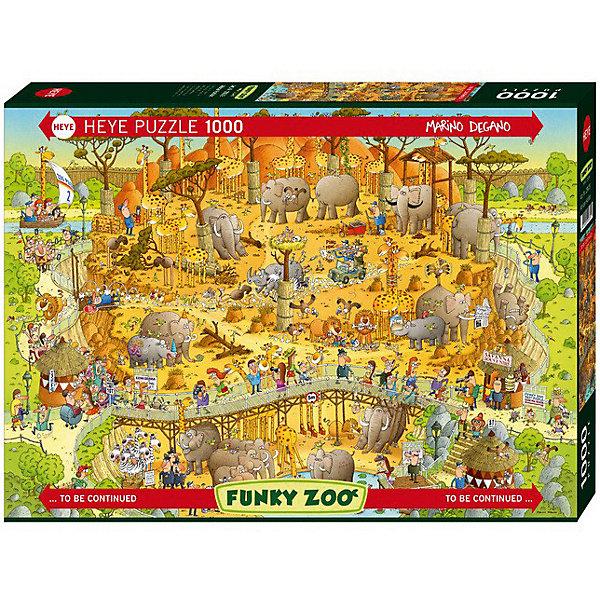 Пазл  Африканский зоопарк,1000 деталей, HeyeПазлы классические<br>Авторский пазл Африканский зоопарк понравится и взрослым и детям. Главное обладать чувством юмора! Прекрасный юмористический сюжет стараниями Марино Дегано превратился в замечательный пазл, который порадует всю семью и подарит много незабываемых вечеров Вам и Вашим детям! Пазл так интересно рассматривать, ведь на нем в шутливой форме изображен зоопарк, который находится прямо в саванне. Животные здесь мирно сосуществуют и с людьми и с собратьями. Собирать пазл Африканский зоопарк невероятно увлекательно, ведь Вы можете без труда окунуться в шутливый мир, где одновременно происходит множество интересных событий. Картинка состоит из невероятного числа сюжетов, поэтому подбирать детали очень интересно. Яркие цвета, четкое изображение, практически уникальные детали сделают сборку комфортной и удобной. Для изготовления своих необыкновенных пазлов компания Heye (Хейе) использует высококачественный плотный картон, причем каждому фрагменту мозаики характерна своя уникальная форма.<br><br>Дополнительная информация:<br><br>- Автор: Марино Дегано;<br>- Прекрасный подарок;<br>- Уникальное качество деталей;<br>- Детали не расслаиваются;<br>- Разнообразная резка;<br>- Размер готовой картинки: 50 х 70 см;<br>- Размер коробки: 37 x 27 x 5,6 см;<br>- Вес: 0,84 кг<br><br>Пазл Африканский зоопарк, 1000 деталей, Heye (Хейе) можно купить в нашем интернет-магазине.<br><br>Ширина мм: 371<br>Глубина мм: 55<br>Высота мм: 271<br>Вес г: 840<br>Возраст от месяцев: 216<br>Возраст до месяцев: 1188<br>Пол: Унисекс<br>Возраст: Детский<br>Количество деталей: 1000<br>SKU: 3849123