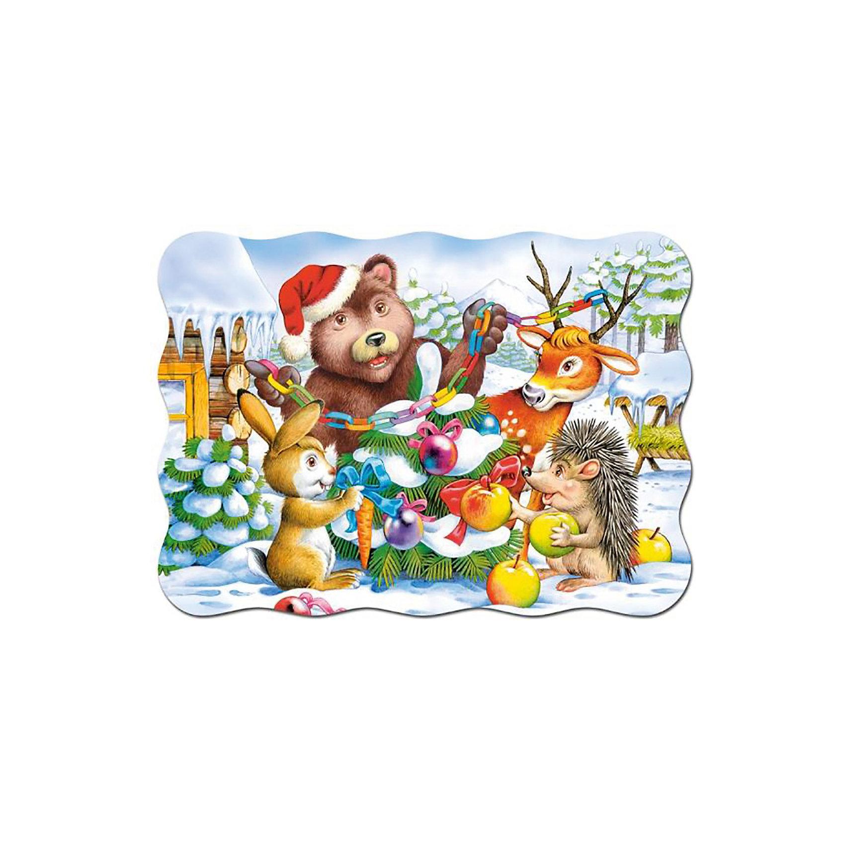 Пазл Рождественская елка, 30 деталей, CastorlandОкунуться в атмосферу праздника Вам поможет пазл «Рождественская елка», 30 деталей, Castorland (Касторленд). Гладкие глянцевые детали из прочного плотного картона идеально стыкуются, что делает процесс сборки пазла таким приятным и увлекательным. Насыщенная цветовая гамма обязательно понравится Вам и Вашему малышу. Сборка тематического пазла «Рождественская елка» Castorland (Касторленд) не только приносит массу положительных эмоций, но и тренирует память, логическое мышление, координацию движений, воображение.<br><br>Дополнительная информация:<br><br>- Прекрасный подарок;<br>- Развивает: воображение, логику, мелкую моторику, память;<br>- Уникальное качество деталей;<br>- Размеры: 17,5 x 13 x 3,6 см;<br>- Размер собранной картинки: 32 х 23 см;<br>- Вес: 150 г<br><br>Пазл «Рождественская елка», 30 деталей, Castorland (Касторленд)  можно купить в нашем интернет-магазине.<br><br>Ширина мм: 180<br>Глубина мм: 40<br>Высота мм: 130<br>Вес г: 150<br>Возраст от месяцев: 36<br>Возраст до месяцев: 84<br>Пол: Унисекс<br>Возраст: Детский<br>Количество деталей: 30<br>SKU: 3849130