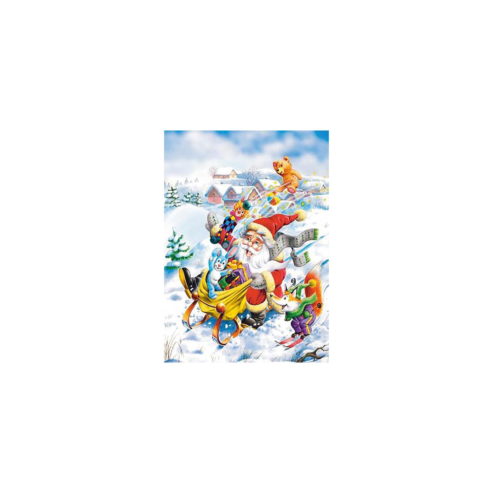 Пазл Поездка Санты, 120 деталей, CastorlandКлассические пазлы<br>Добродушный Санта Клаус мчится на санях с кучей подарков. Соберите  пазл «Поездка Санты»  Castorland (Касторленд) и узнайте, что именно собрался подарить Санта малышам. Гладкие глянцевые детали уникальной формы (более мелкие по сравнению с обычными) изготовлены из плотного картона и точно нарезаны, поэтому стыкуются без проблем. Яркая цветовая гамма и красивый рисунок с интересным сюжетом порадуют Вас и Вашего малыша и принесут  массу положительных эмоций!<br><br>Дополнительная информация:<br><br>- Прекрасный подарок на Новый Год;<br>- Уникальное качество деталей;<br>- Размеры упаковки 13 х 3,7 х 17,5 см;<br>- Размер картинки: 32 х 23 см;<br>- Вес: 150 г<br><br>Пазл «Поездка Санты», 120 деталей, Castorland (Касторленд)  можно купить в нашем интернет-магазине.<br><br>Ширина мм: 180<br>Глубина мм: 40<br>Высота мм: 130<br>Вес г: 150<br>Возраст от месяцев: 60<br>Возраст до месяцев: 120<br>Пол: Унисекс<br>Возраст: Детский<br>Количество деталей: 120<br>SKU: 3849132