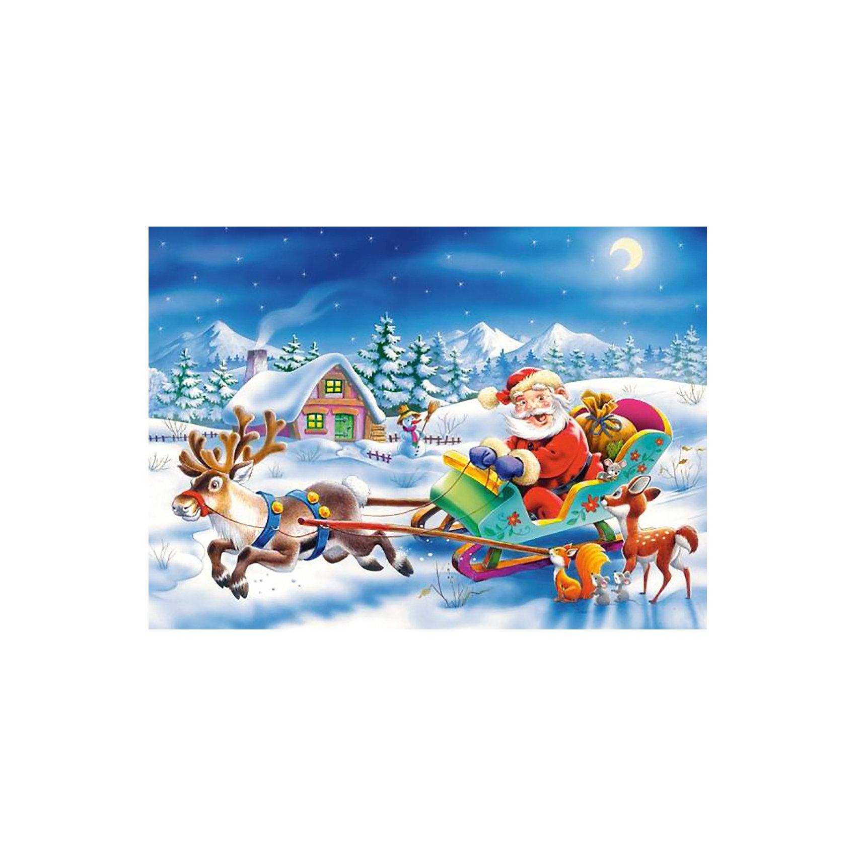 Пазл Рождество, 260 деталей , CastorlandРождество – чудесный праздник! <br>Пазл «Рождество» от Castorland (Касторленд) с высоким качеством полиграфии, насыщенной цветовой гаммой и интересным сюжетом совершенно точно понравится ребенку. Благодаря точной нарезке, детали пазла прочно состыковываются, принося массу положительных эмоций тем, кто его собирает. Очутись в атмосфере праздника с пазлом «Рождество» от Castorland (Касторленд)!<br><br>Дополнительная информация:<br><br>- Прекрасный подарок на Новый Год;<br>- Уникальное качество деталей;<br>- Развивает: воображение, логику, мелкую моторику, память;<br>- Размер упаковки: 17,6 x 24,5 x 3,6 см;<br>- Размер готовой картинки: 32 х 23 см;<br>- Вес: 150 г<br><br><br>Пазл «Рождество»,  260 деталей, Castorland (Касторленд)  можно купить в нашем интернет-магазине.<br><br>Ширина мм: 180<br>Глубина мм: 40<br>Высота мм: 130<br>Вес г: 150<br>Возраст от месяцев: 60<br>Возраст до месяцев: 120<br>Пол: Унисекс<br>Возраст: Детский<br>Количество деталей: 260<br>SKU: 3849133