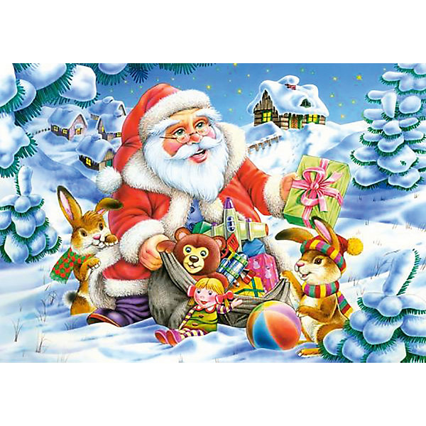 Пазл Санта Клаус, 500 деталей, CastorlandПазлы классические<br>Рождественское настроение и атмосферу праздника подарит Вам пазл «Санта Клаус». Ваш ребенок с удовольствием соберет добродушного Санта Клауса с горой  подарков  из 500 маленьких фрагментов прочного качественного картона, плотно соединяющегося между собой. Сборка тематического пазла «Санта Клаус» Castorland (Касторленд) тренирует память, логическое мышление, координацию движений, воображение.<br><br>Дополнительная информация:<br><br>- Прекрасный подарок на Новый Год;<br>- Уникальное качество деталей;<br>- Размер упаковки: 22 х 4,7 х 32 см;<br>- Размеры готового пазла: 47 х 33 см;<br>- Вес: 300 г<br><br>Пазл «Санта Клаус» 500 деталей, Castorland (Касторленд) можно купить в нашем интернет-магазине.<br><br>Ширина мм: 320<br>Глубина мм: 47<br>Высота мм: 220<br>Вес г: 300<br>Возраст от месяцев: 72<br>Возраст до месяцев: 1188<br>Пол: Унисекс<br>Возраст: Детский<br>Количество деталей: 500<br>SKU: 3849134