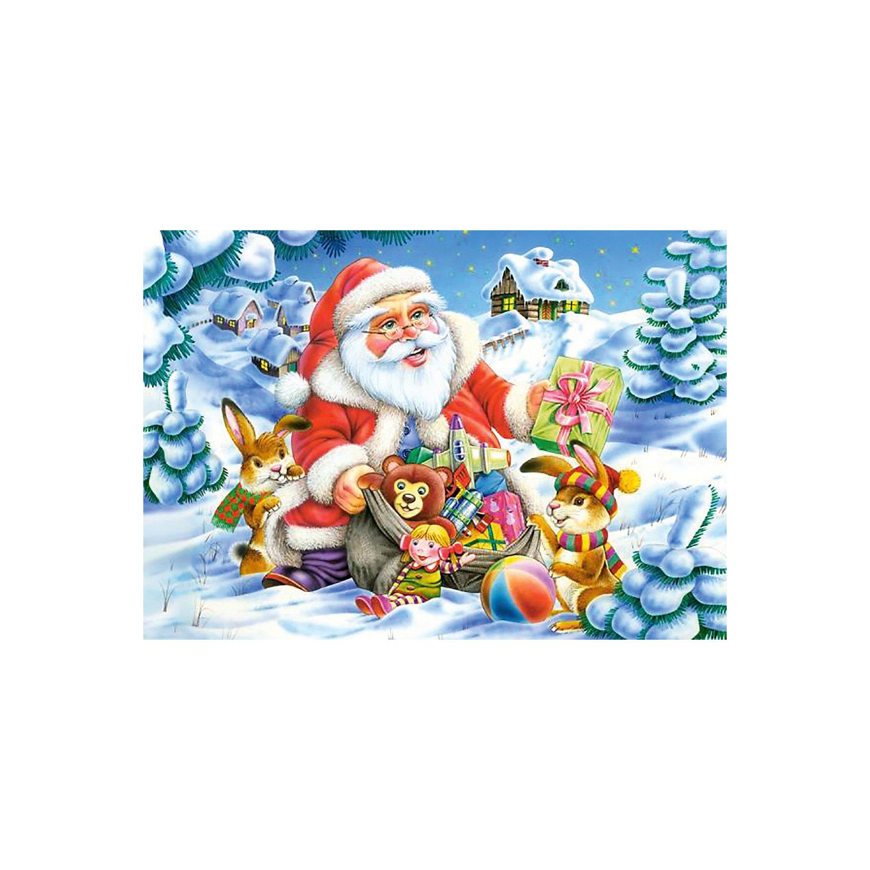 Пазл Санта Клаус, 500 деталей, CastorlandРождественское настроение и атмосферу праздника подарит Вам пазл «Санта Клаус». Ваш ребенок с удовольствием соберет добродушного Санта Клауса с горой  подарков  из 500 маленьких фрагментов прочного качественного картона, плотно соединяющегося между собой. Сборка тематического пазла «Санта Клаус» Castorland (Касторленд) тренирует память, логическое мышление, координацию движений, воображение.<br><br>Дополнительная информация:<br><br>- Прекрасный подарок на Новый Год;<br>- Уникальное качество деталей;<br>- Размер упаковки: 22 х 4,7 х 32 см;<br>- Размеры готового пазла: 47 х 33 см;<br>- Вес: 300 г<br><br>Пазл «Санта Клаус» 500 деталей, Castorland (Касторленд) можно купить в нашем интернет-магазине.<br><br>Ширина мм: 320<br>Глубина мм: 47<br>Высота мм: 220<br>Вес г: 300<br>Возраст от месяцев: 72<br>Возраст до месяцев: 1188<br>Пол: Унисекс<br>Возраст: Детский<br>Количество деталей: 500<br>SKU: 3849134