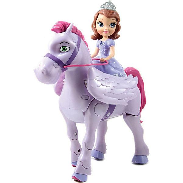 Игровой набор София Прекрасная и крылатый конь Минимус,  р/уИгрушки<br>Принцесса София Прекрасная из одноименного мультфильма кинокомпании Дисней обожает животных, У нее есть верный друг - конь по имени Минимус - волшебный конь-пегас с большими красивые крылья. <br>Радиоуправляемая игрушка-конь двигается вперед по кругу, сгибая и переставляя передние ноги и передвигая задними, имитируя движения лошади, машет крыльями, поворачивает направо и налево. При нажатии соответствующей кнопки на пульте управления раздается веселый смех принцессы Софии. <br><br>Дополнительная информация:<br><br>В наборе: пульт управления (работает от 2 АА батареек), фигурка коня (работает от 4 АА батареек) и Софии Прекрасной (несъемная). Батарейки в комплект не входят<br>Размер игрушки: 25,5 х 11,5 х 15,5 см.<br>Размер упаковки: 30,5 х 22,8 х 12,7 см.<br><br>Игровой набор София Прекрасная и крылатый конь Минимус,  р/у можно купить в нашем магазине.<br><br>Ширина мм: 305<br>Глубина мм: 228<br>Высота мм: 127<br>Вес г: 1200<br>Возраст от месяцев: 48<br>Возраст до месяцев: 120<br>Пол: Женский<br>Возраст: Детский<br>SKU: 3856592