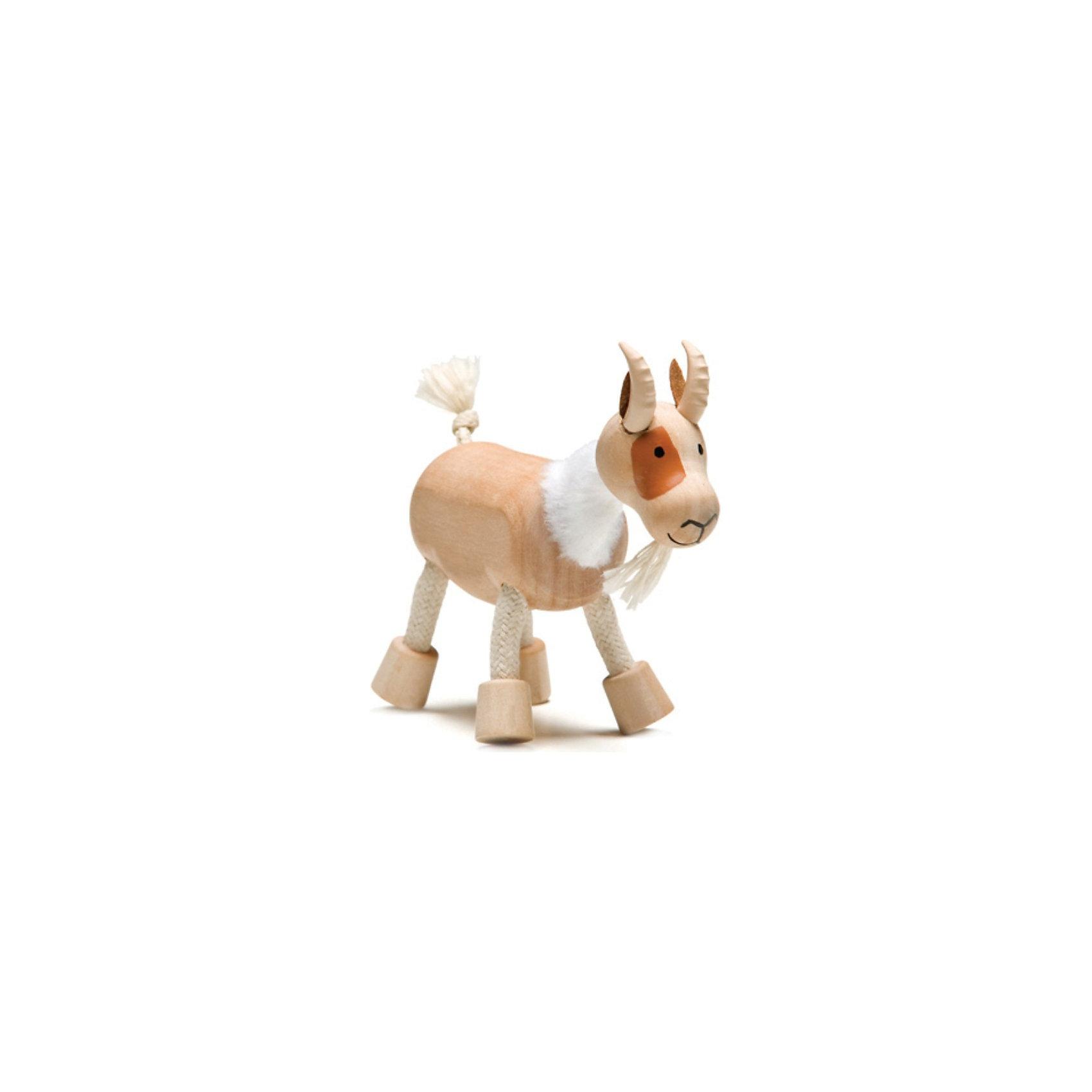 Козлик, AnaMalzМир животных<br>AnaMalz – самые милые деревянные игрушки на свете!<br><br>Придуманные австралийским дизайнером Луизой Косан-Скотт,<br>игрушки AnaMalz завоевали более 15 отраслевых наград, включая Австралийскую международную награду в области дизайна, присуждаемую организацией Standards Australia.<br>- Игрушки AnaMalz предназначены для детей от 3 лет<br><br>- AnaMalz изготовлены из дерева, называемого schima superba или «игольчатое дерево» (быстрорастущее дерево, выращиваемое на лесных плантациях)<br><br>- Рога изготовлены из термопластичной резины (TPR) – материала, одобренного Управлением по контролю качества пищевых продуктов и медикаментов (FDA). Смесь TPR с древесной мукой является экологичной альтернативой пластмассе<br><br>- Все игрушки AnaMalz раскрашиваются вручную с использованием безопасной для детей краски и клея без содержания формальдегида<br><br>- Древесные отходы от производства AnaMalz используются на ферме для выращивания грибов<br><br>AnaMalz завоевали популярность во всем мире. Они стали участниками телевизионных шоу TODAY, шоу Марты Стюарт, Daily Candy Kids и USA Today Weekend. <br><br>Наши маленькие деревянные друзья покорили сердца самых строгих критиков отрасли – и получили множество «игрушечных» наград!<br><br>Ширина мм: 90<br>Глубина мм: 40<br>Высота мм: 90<br>Вес г: 50<br>Возраст от месяцев: 36<br>Возраст до месяцев: 168<br>Пол: Унисекс<br>Возраст: Детский<br>SKU: 3858518