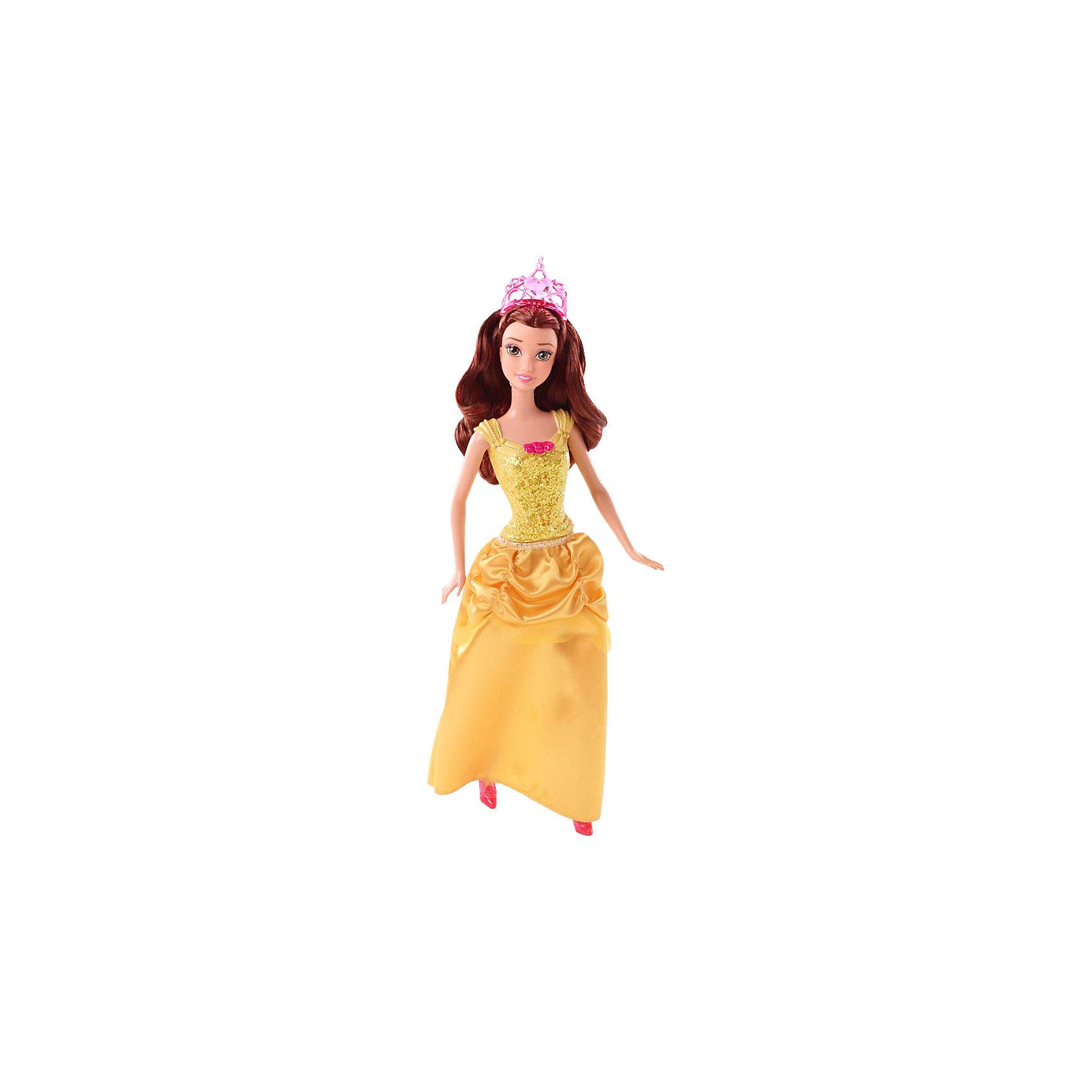 Кукла Бэлль, Принцессы ДиснейИгрушки<br>Кукла Бэлль, Disney Princess (Принцесса Диснея) – это кукла, созданная для настоящей принцессы!<br>Сказочная Принцесса Бэлль в сверкающем наряде чудно хороша! Наряд куклы, как всегда, безупречен. Верхняя часть бального платья таинственно переливается, длинная юбка украшена красивой драпировкой. На груди у куколки находится отличительный знак, присущий только ей – розочки. Туфельки на ножках прекрасно гармонируют с платьем. Ее шелковистые длинные волосы красиво уложены. На голове изящная тиара. Волосы куклы изготовлены из нейлона высокого качества. Одежду и обувь можно снимать. Образ куклы Бэлль Disney Princess проработан до мелочей, является завершенным и целостным! Игрушечная Бэлль выглядят, как реальный прототип - героини мультфильмов Disney «Красавица и чудовище»!<br><br>Дополнительная информация:<br><br>- Материал: высококачественный пластик, текстиль<br>- Рост куклы: 29 см.<br>- Размер упаковки: 11,5 х 6 х 32 см.<br>- Вес: 243 гр.<br><br>Куклу Бэлль, Disney Princess (Принцесса Диснея) можно купить в нашем интернет-магазине.<br><br>Ширина мм: 330<br>Глубина мм: 119<br>Высота мм: 63<br>Вес г: 199<br>Возраст от месяцев: 36<br>Возраст до месяцев: 72<br>Пол: Женский<br>Возраст: Детский<br>SKU: 3858580