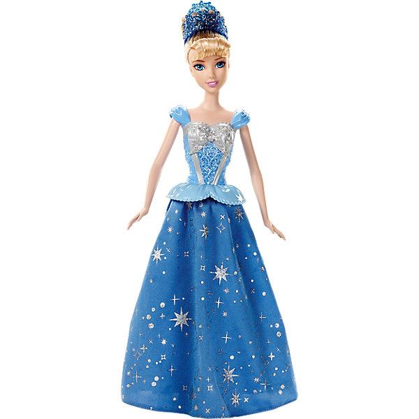 Кукла Золушка, с развевающейся юбкой, Disney PrincessИдеи подарков<br>Прекрасная золушка станцует тебе свое волшебный танец! Посмотри, как красиво развивается ее платье! Секрет в том, что в ногах у куколки располагаются маленькие колесики, которые приводят в действие механизм, который раскручивает юбку. Надо лишь катить куклу по ровной поверхности. Принцесса одета в красивое платье с обтягивающим лифом с серебряной вставкой, рельефными узорами и блестками. Пышная юбка покрыта удивительным рисунком из маленьких звездочек. Белокурые волосы куклы забраны в высокую прическу, образ дополняет голубая диадема.<br><br>Дополнительная информация:<br><br>- Материал: пластик, текстиль.<br>- Лиф платья пластиковый. <br>- Голова, руки, ноги куклы подвижные.<br>- Высота куклы: 29 см. <br><br>Куклу Золушку, с развевающейся юбкой, Disney Princess (Принцессы Диснея), можно купить в нашем магазине.<br><br>Ширина мм: 330<br>Глубина мм: 203<br>Высота мм: 71<br>Вес г: 260<br>Возраст от месяцев: 36<br>Возраст до месяцев: 72<br>Пол: Женский<br>Возраст: Детский<br>SKU: 3858585