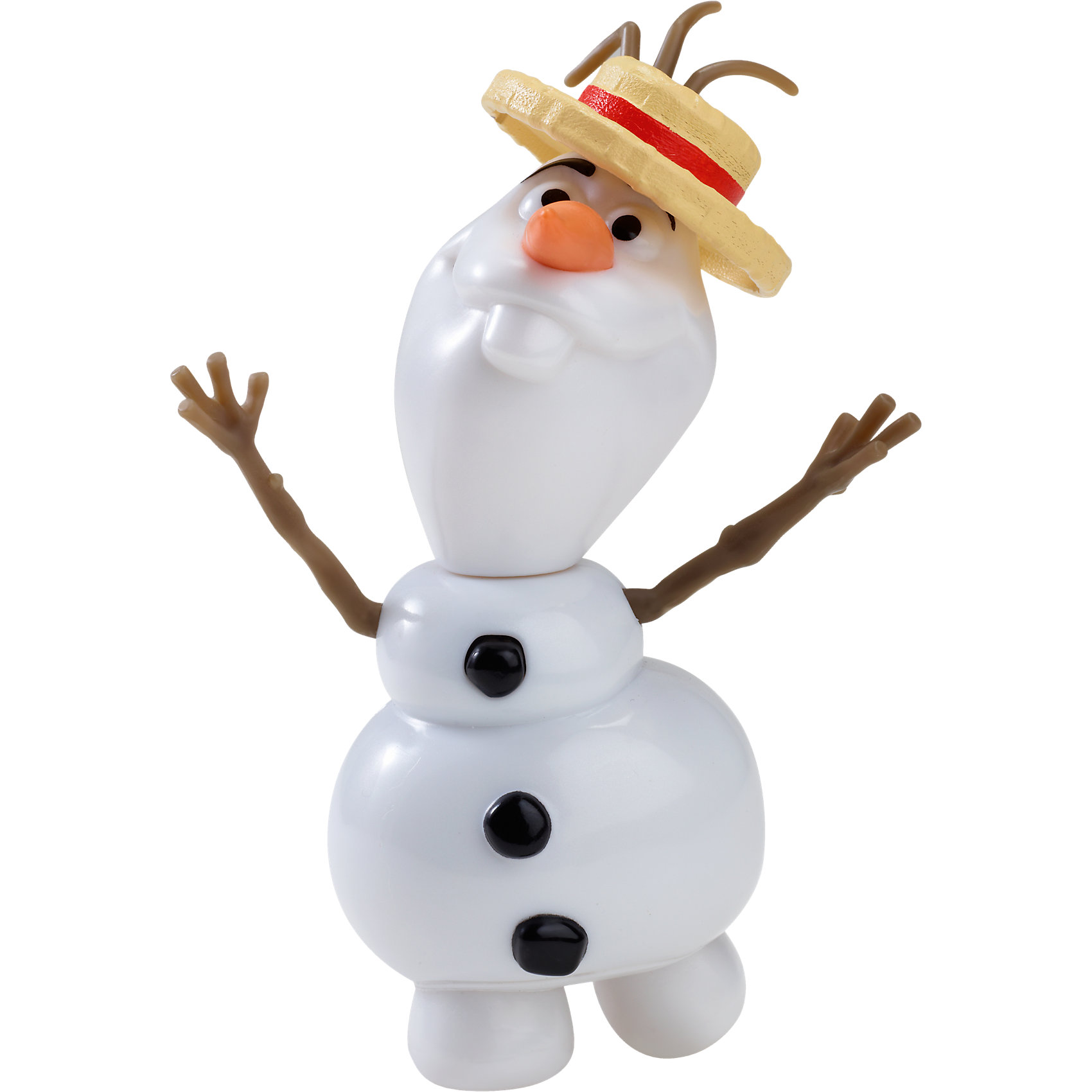 Снеговик Олаф, 20 см, Холодное СердцеЗабавный снеговик Олаф готов развеселить тебя песенкой из мультфильма Frozen. Надо лишь нажать на верхнюю пуговку и ты услышишь знакомую мелодию. Фигурка снеговика прекрасно детализирована и очень похожа на персонажа мультфильма.<br><br>Дополнительная информация:<br><br>- Материал: пластик.<br>- Голова, руки подвижные; шляпа снимается. <br>- Голову можно отсоединить от тела. <br>- Высота: 20 см.<br>- Элемент питания: 3 х AG13 / LR44 (миниатюрные, в комплекте). <br><br>Снеговика Олафа, 20 см, Холодное Сердце, можно купить в нашем магазине.<br><br>Ширина мм: 207<br>Глубина мм: 175<br>Высота мм: 60<br>Вес г: 156<br>Возраст от месяцев: 36<br>Возраст до месяцев: 72<br>Пол: Женский<br>Возраст: Детский<br>SKU: 3858593