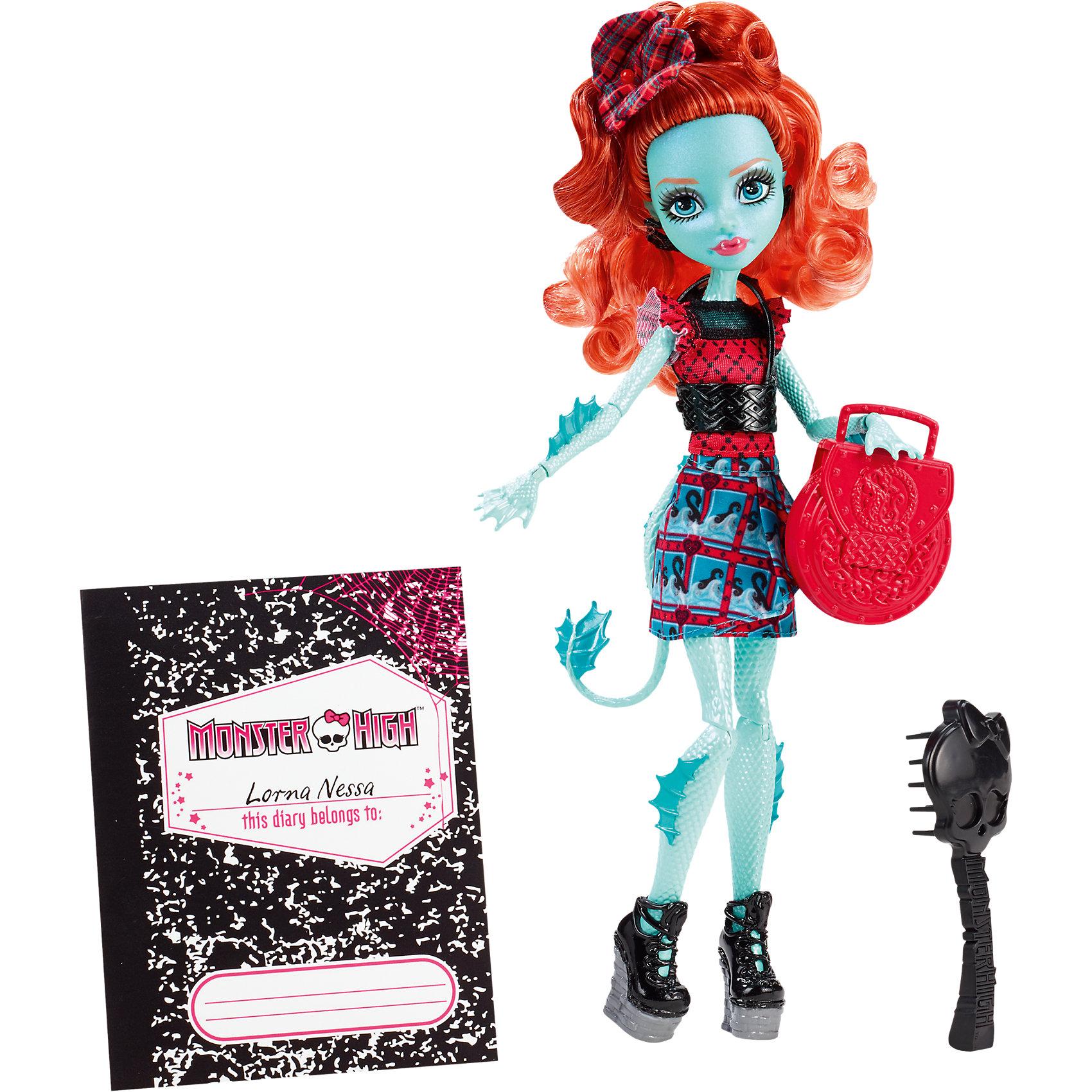 Mattel Кукла Лорна Макнесси Школьный обмен, Monster High куклы и одежда для кукол монстер хай monster high кукла шапито jinafire long из серии