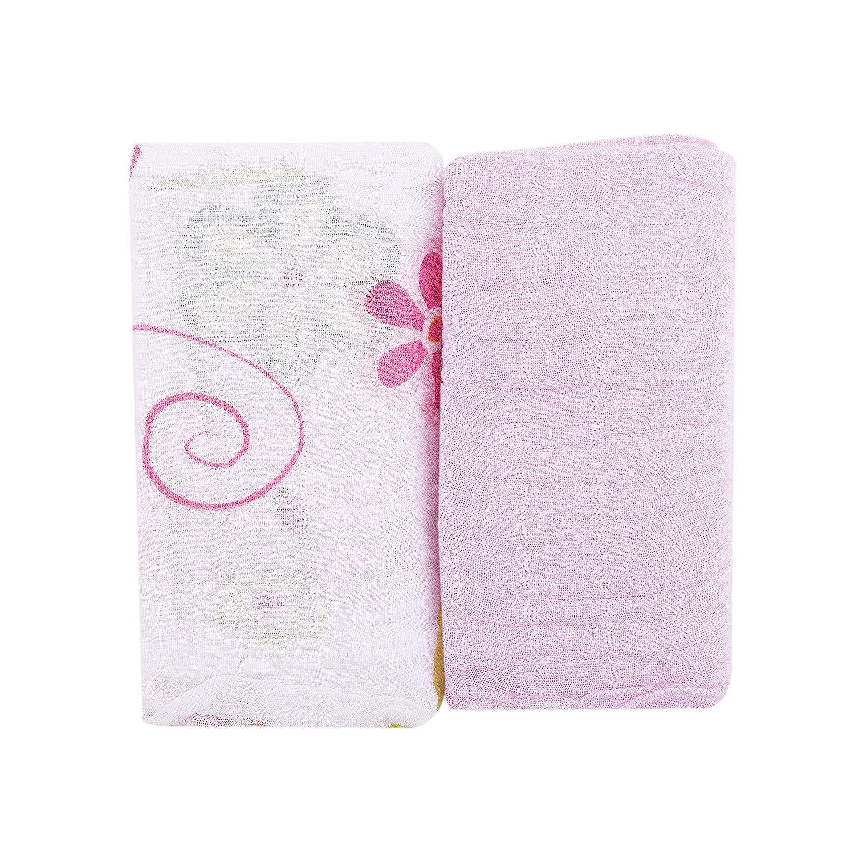 Муслиновые пеленки, Baby Nice, розовый (2 шт.)Пеленание<br>Муслиновые пеленки, Baby Nice (Беби Найс), розовый – это две красивые пеленки необыкновенно мягкие и приятные для кожи младенца.<br>Пеленки из мягкого и дышащего муслинового хлопка идеально подходят для пеленания новорожденных. В них вашему малышу будет комфортно и тепло. Муслин – это легкая, дышащая и мягкая хлопковая ткань. Особенно рекомендуются для естественного пеленания для детей с очень чувствительной кожей склонной к раздражениям. Муслин лучше всех прочих материалов использующихся в производстве детских пеленок впитывает влагу. Благодаря тонкому, но при этом очень прочному плетению нитей, ткань хорошо растягивается, не сковывает движений и не препятствует циркуляции воздуха вокруг тела малыша. Пеленки из муслина многофункциональны - их можно использовать как легкий плед в кроватку или коляску в жаркую погоду, как полотенце для обтирания малыша после купания и непосредственно для пеленания. Изделия из муслинового хлопка быстро сохнут, не требуют глажки, стираются в стиральной машине при температуре не более 30С.<br><br>Дополнительная информация:<br><br>- В комплекте: 2 пеленки<br>- Размер: 115х115 см.<br>- Материал: 100% муслиновый хлопок<br>- Цвет: розовый<br>- Хорошая воздухопроницаемость и гигроскопичность<br>- Предназначены для круглогодичного использования<br>- Ткань сохраняет свои свойства даже после многочисленных стирок<br>- Идеальны для комфортного сна ребенка<br>- Уникальный стильный и модный дизайн<br><br>Муслиновые пеленки, Baby Nice (Беби Найс), розовые можно купить в нашем интернет-магазине.<br><br>Ширина мм: 400<br>Глубина мм: 400<br>Высота мм: 40<br>Вес г: 380<br>Возраст от месяцев: 0<br>Возраст до месяцев: 5<br>Пол: Женский<br>Возраст: Детский<br>SKU: 3859421